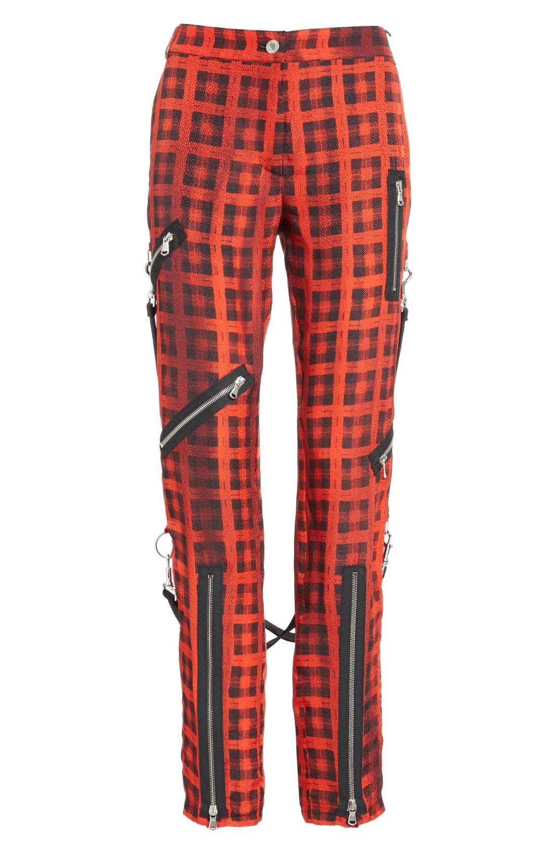 Alternate Image 4  - Moschino Plaid Print Ankle Pants with Detachable Suspenders