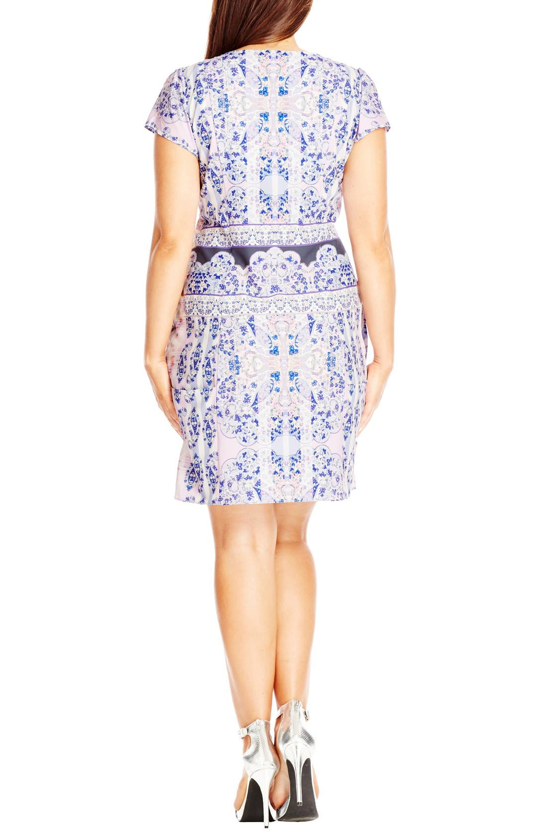 Alternate Image 2  - City Chic Front Zip Pleat Tunic (Plus Size)