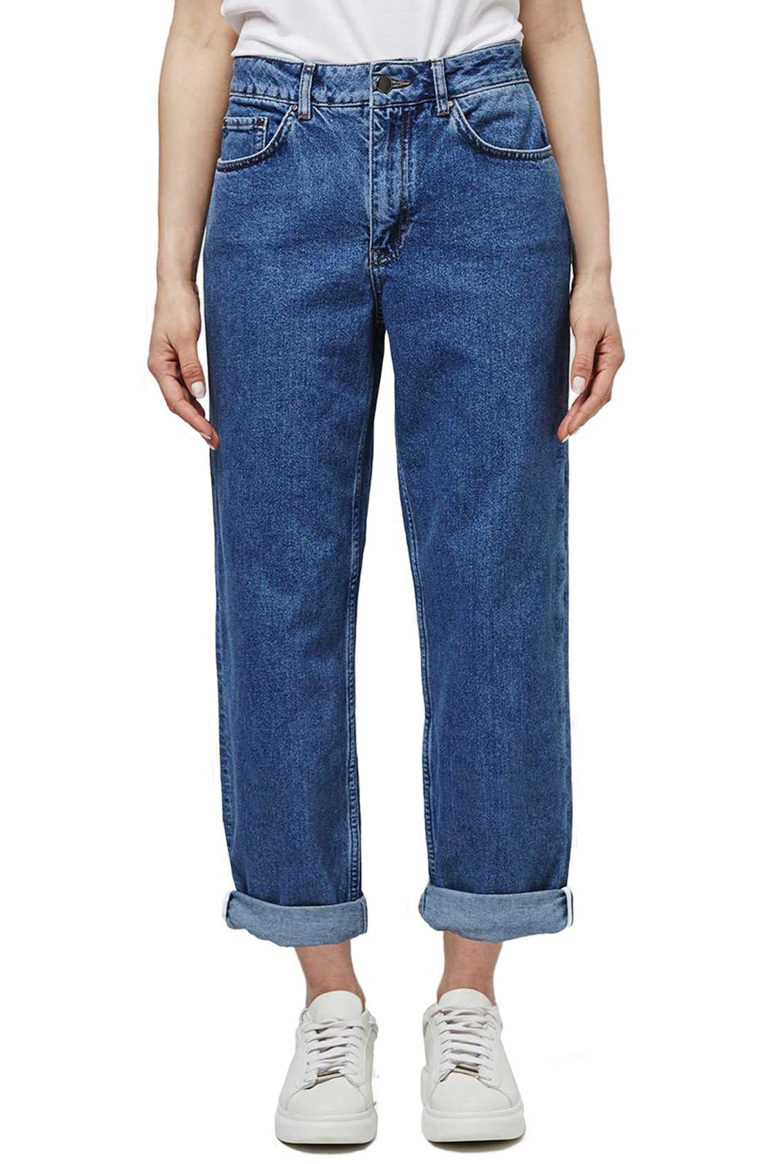 Alternate Image 1 Selected - Topshop Boutique High Rise Relaxed Boyfriend Jeans