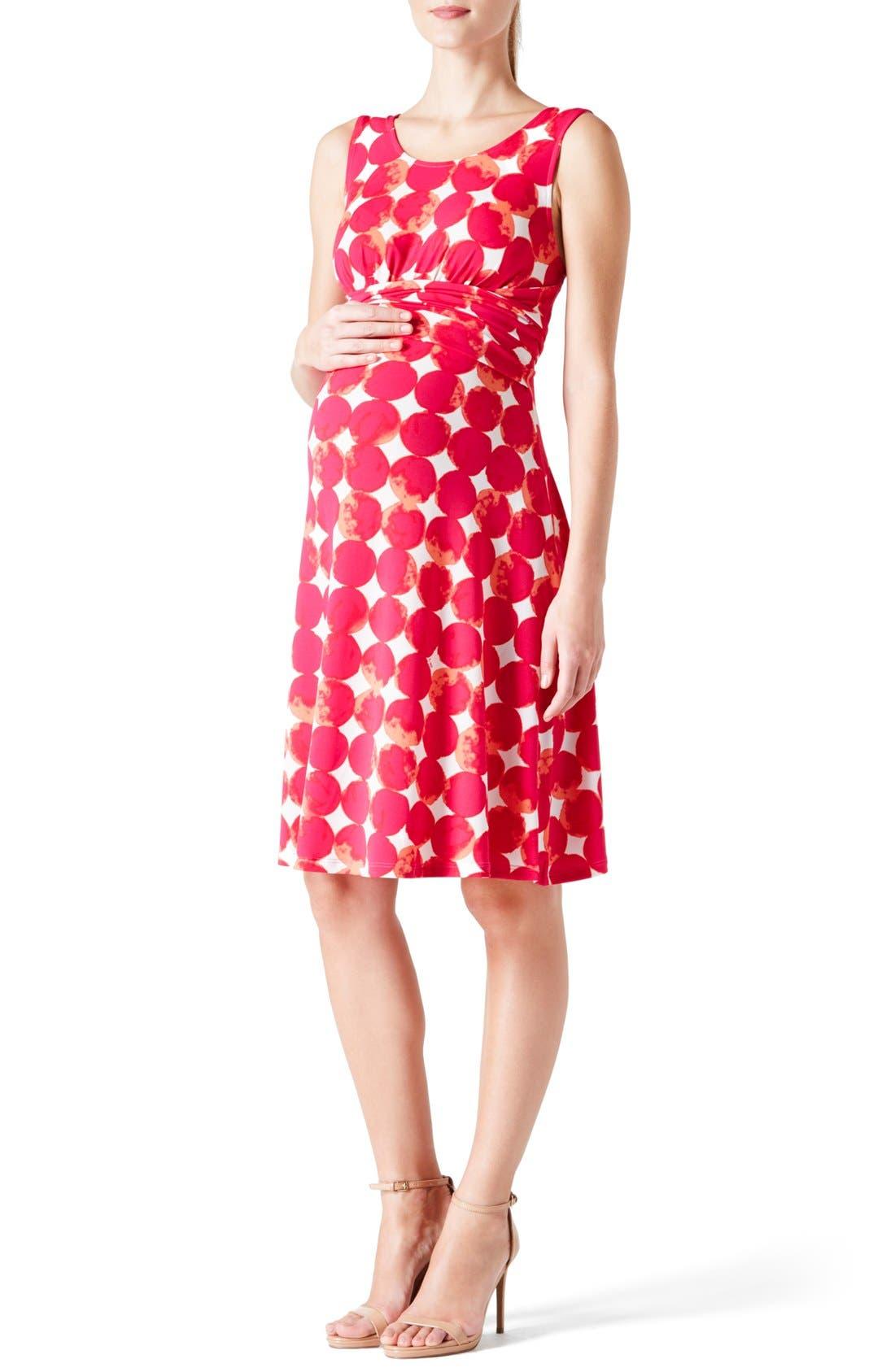 Leota 'Brittany' Sleeveless A-Line Maternity Dress