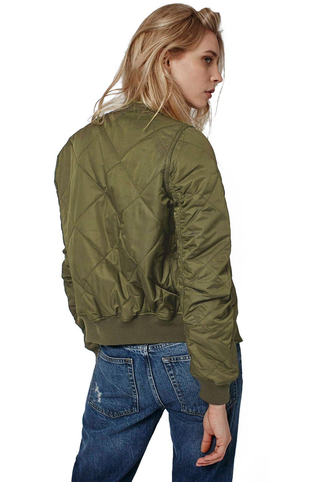 Alternate Image 3  - Topshop 'MA1 Bruce' Quilted Bomber Jacket