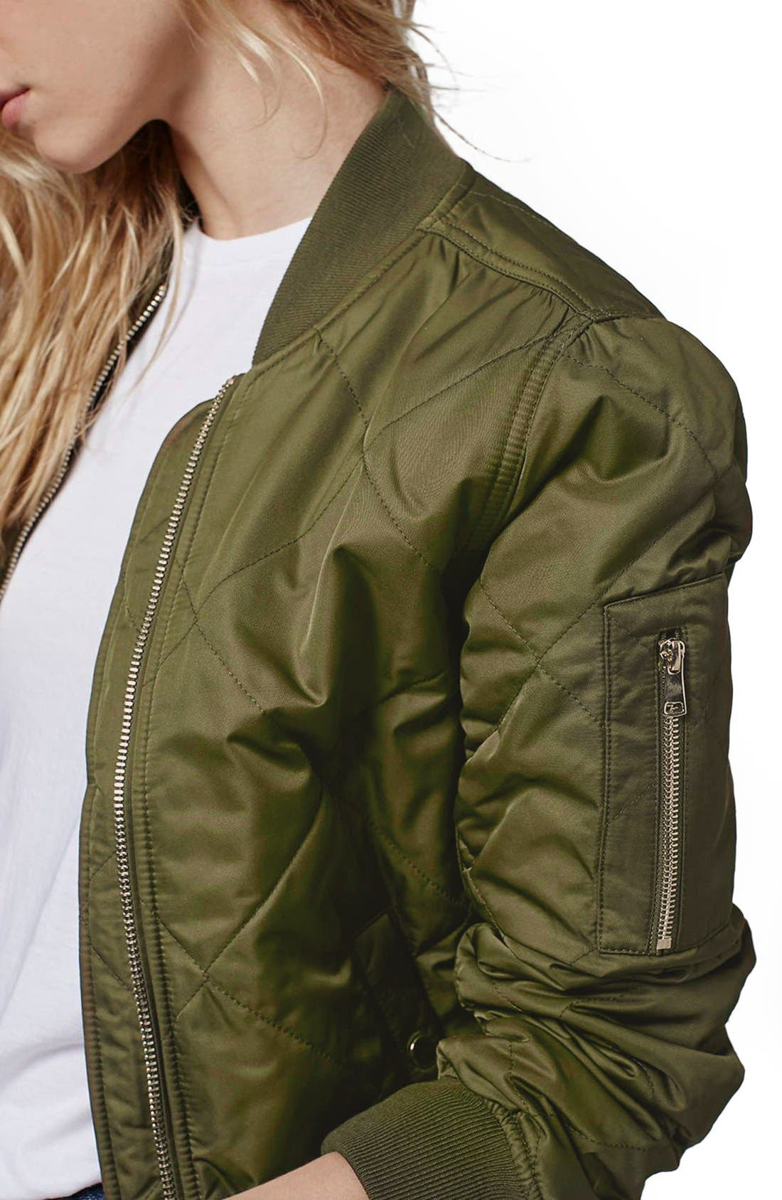 Alternate Image 5  - Topshop 'MA1 Bruce' Quilted Bomber Jacket