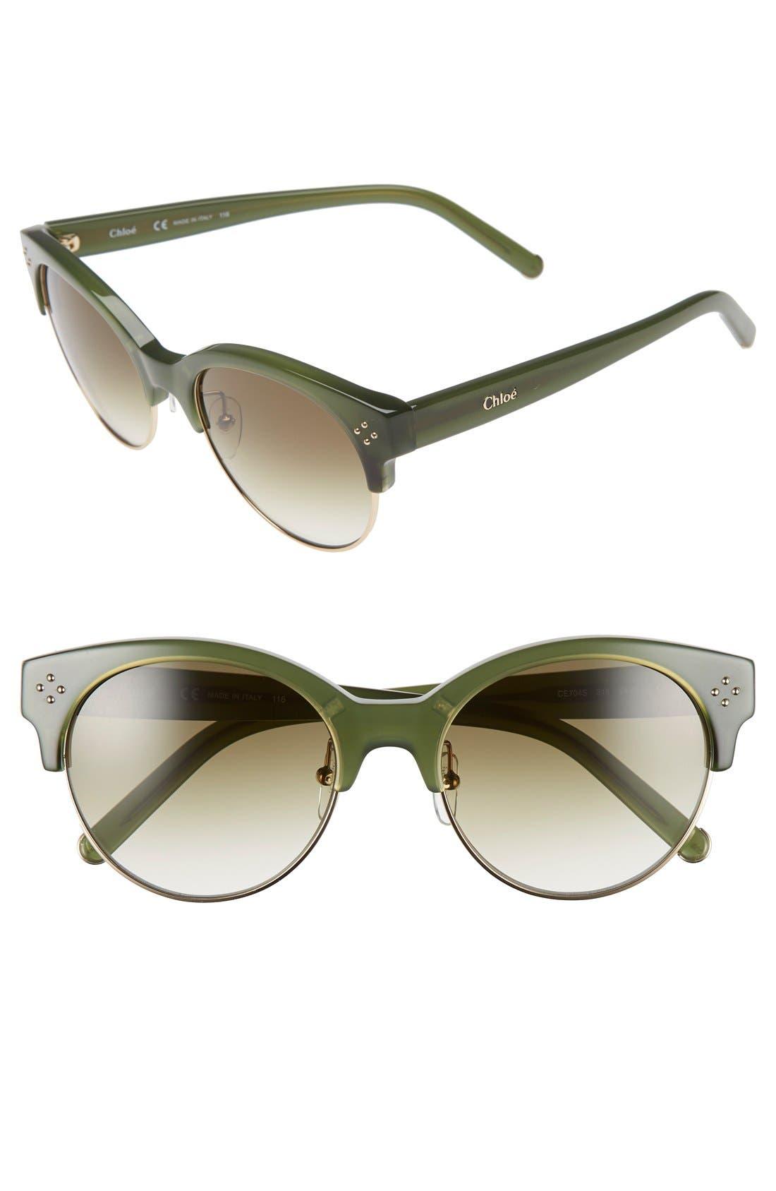 Chloé 'Boxwood' 54mm Sunglasses