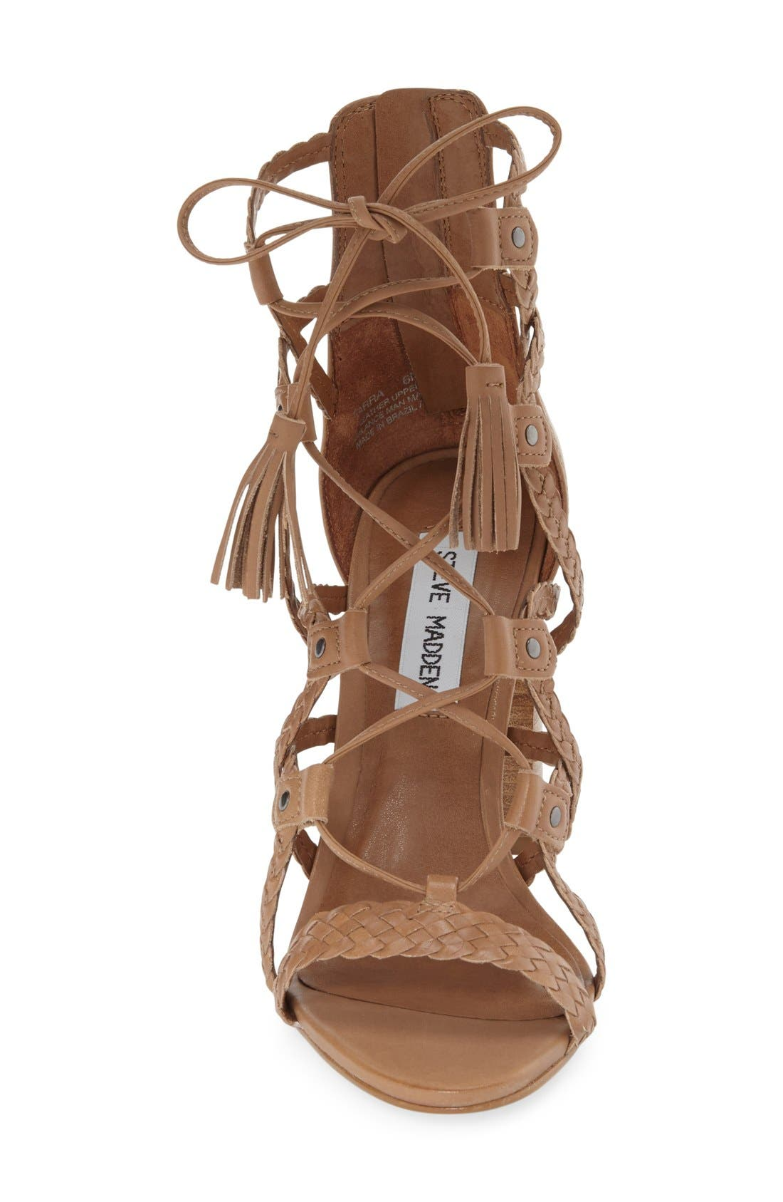 Alternate Image 3  - Steve Madden 'Tarrra' Ghillie Block Heel Sandal (Women)