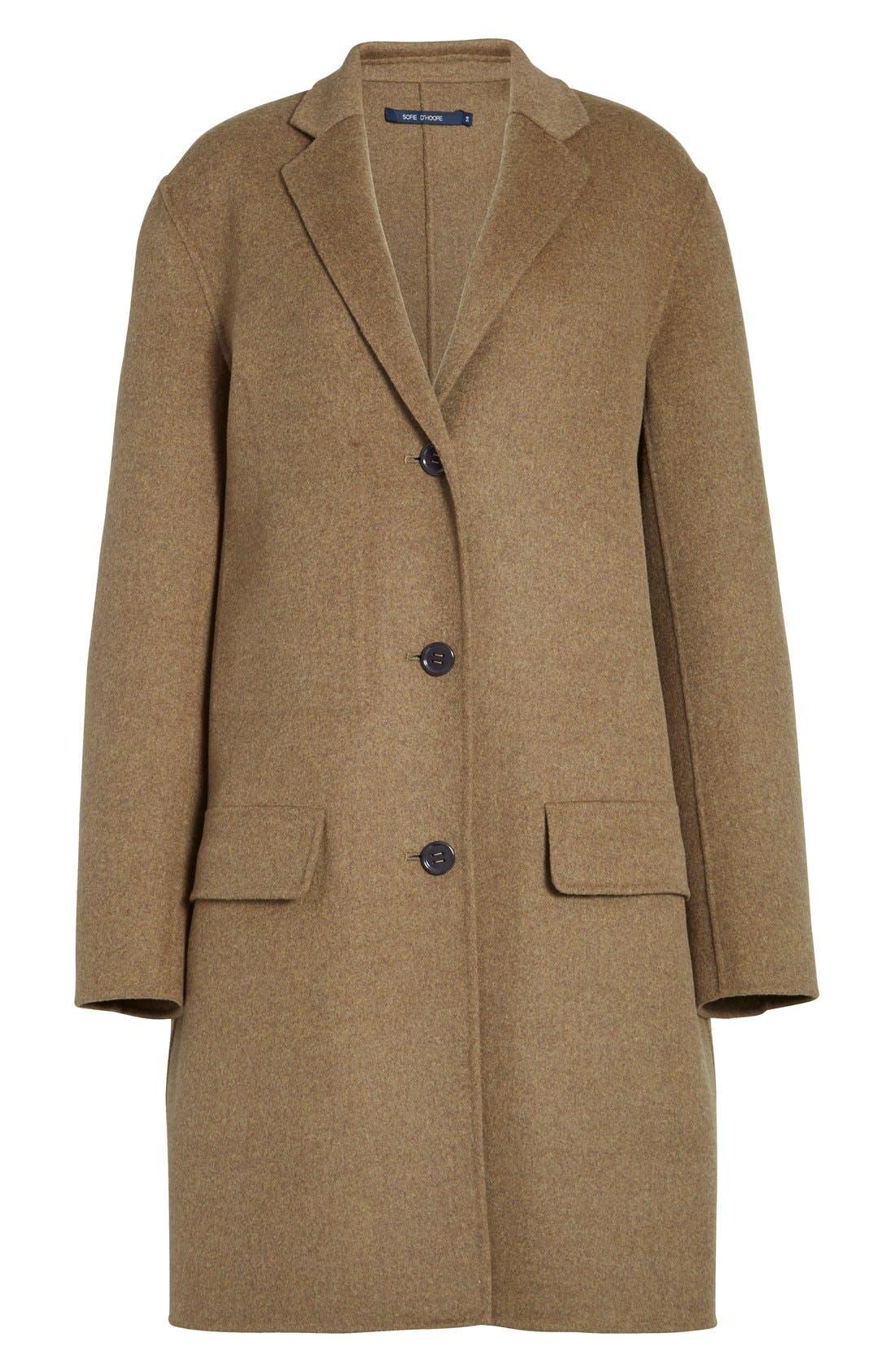 Alternate Image 4  - Sofie D'Hoore 'Click' Wool & Cashmere Long Coat