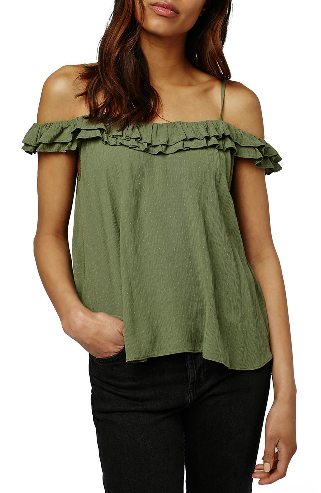 Alternate Image 1 Selected - Topshop 'Florence' Ruffle Top