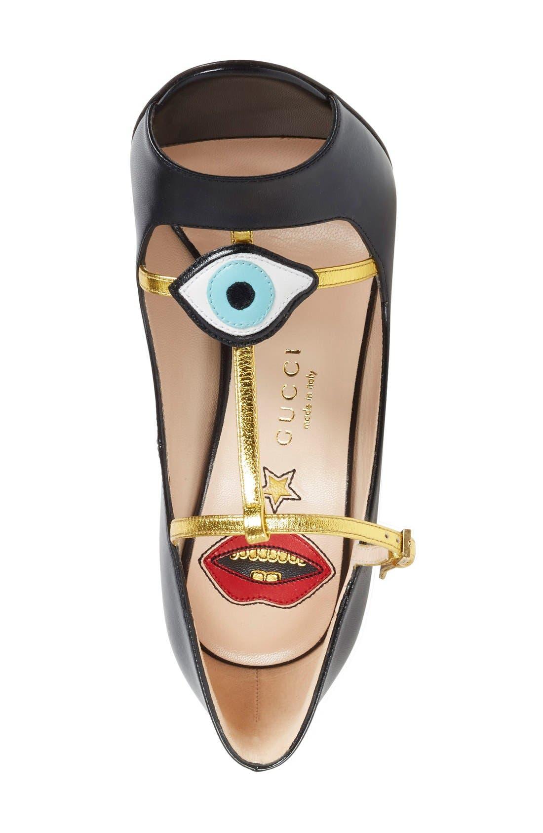 Alternate Image 3  - Gucci 'Molina' T-Strap Peep Toe Pump (Women)