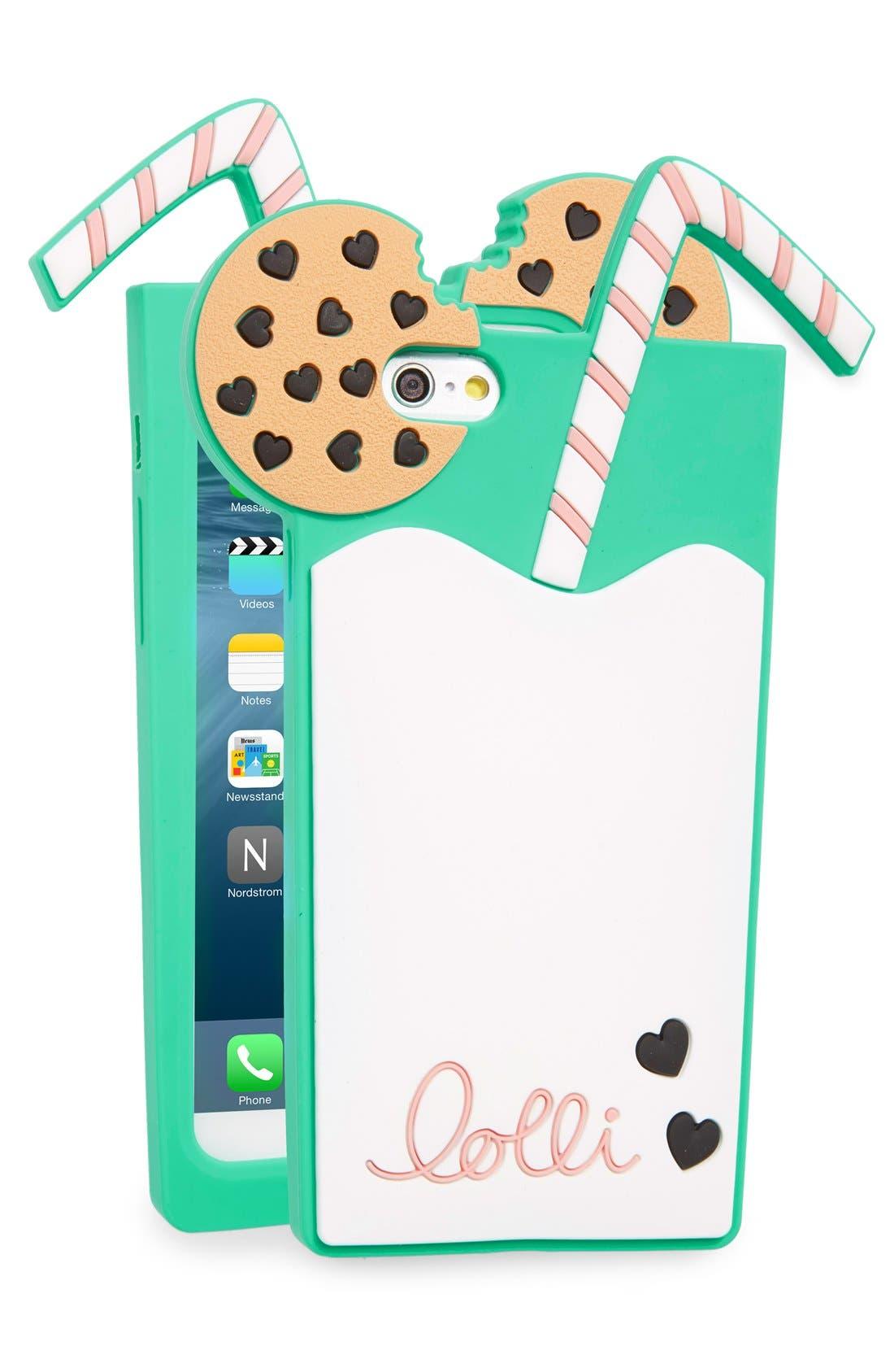 Main Image - Lolli Swim Milk N' Cookies iPhone 6/6s Case
