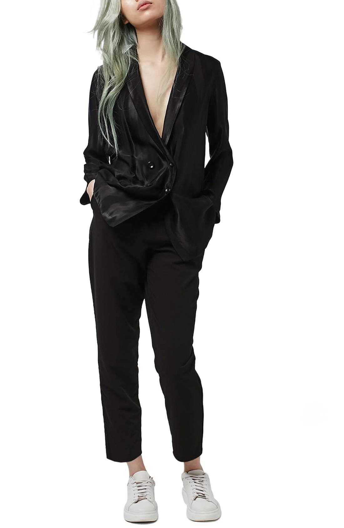 Alternate Image 2  - Topshop Pleated Tapered Trousers