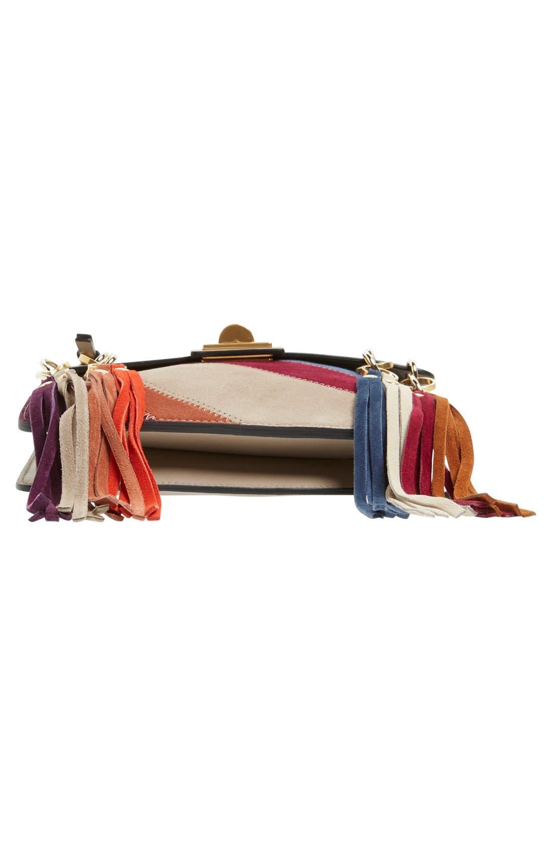 Alternate Image 8  - Chloé 'Small Jane' Suede Fringe Patchwork Leather Crossbody Bag