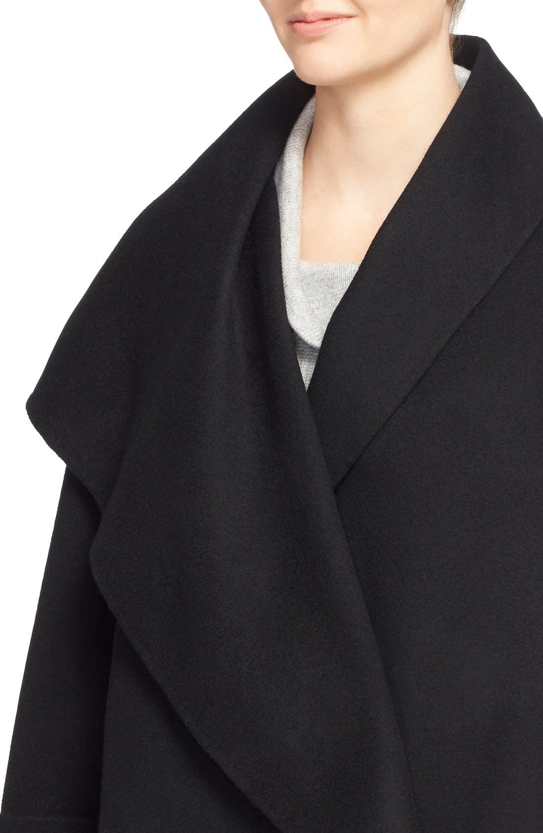 Alternate Image 4  - Vince Drape Neck Wool Blend Coat