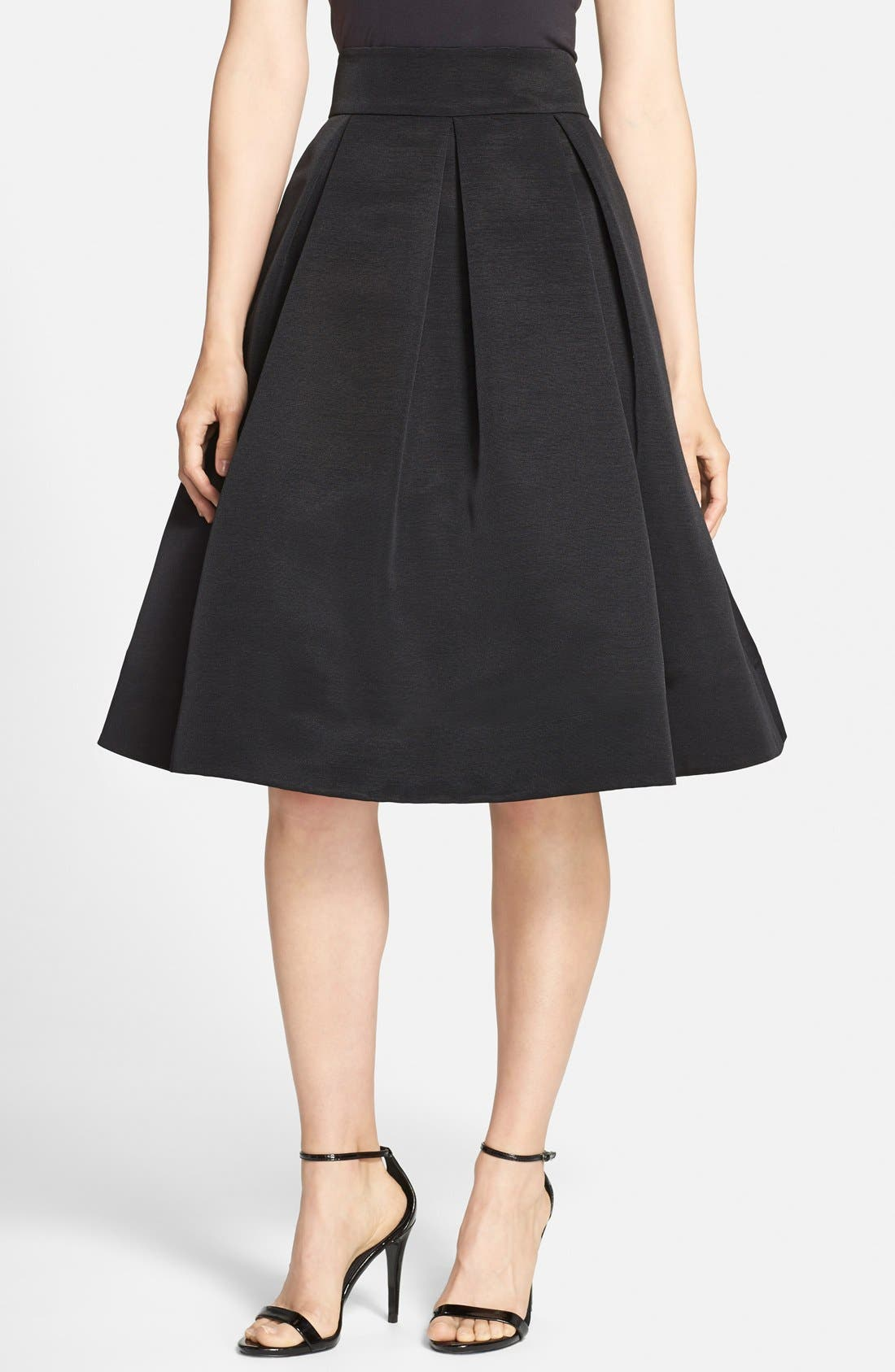 Eliza J Faille Midi Skirt