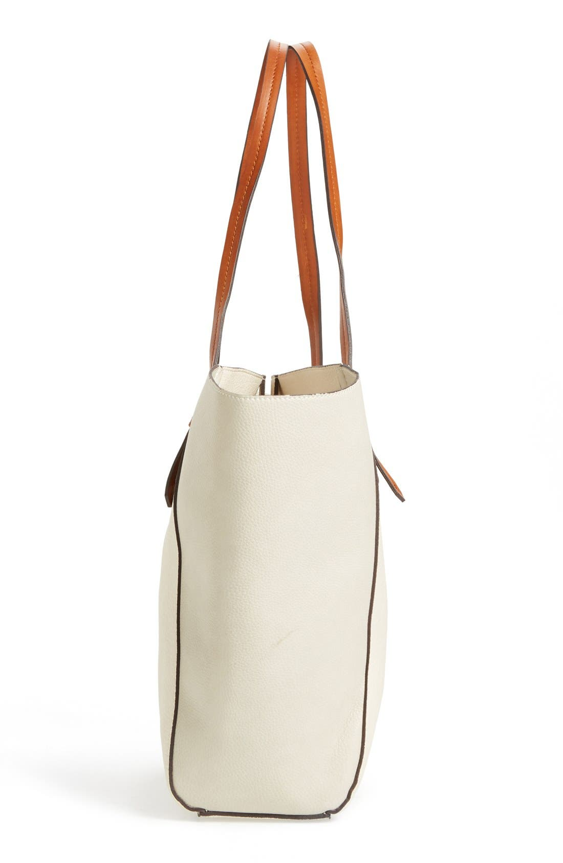 Alternate Image 5  - Sole Society Faux Leather Trapeze Tote