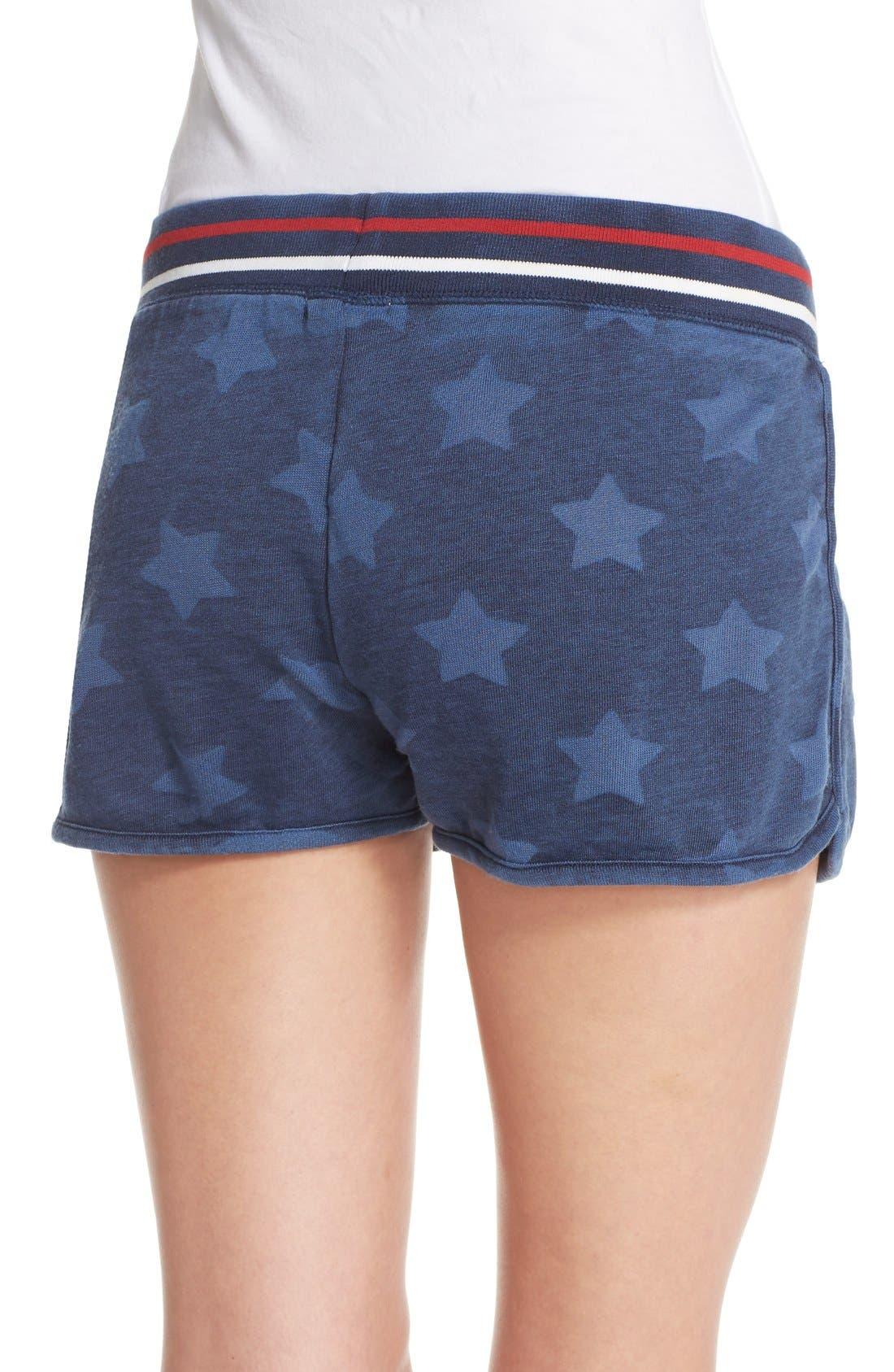 Alternate Image 2  - PJ Salvage 'Road Trip' Star Print Pajama Shorts