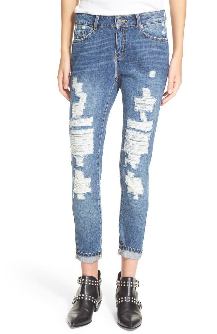 the kooples destroyed boyfriend jeans nordstrom. Black Bedroom Furniture Sets. Home Design Ideas