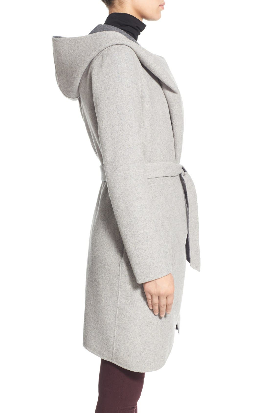 Alternate Image 5  - Soia & Kyo Reversible Double Face Hooded Wrap Jacket