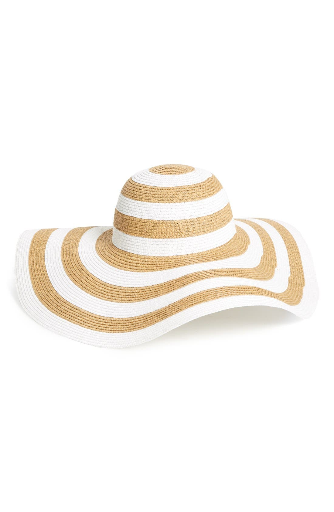Main Image - BP. Oversize Packable Straw Hat