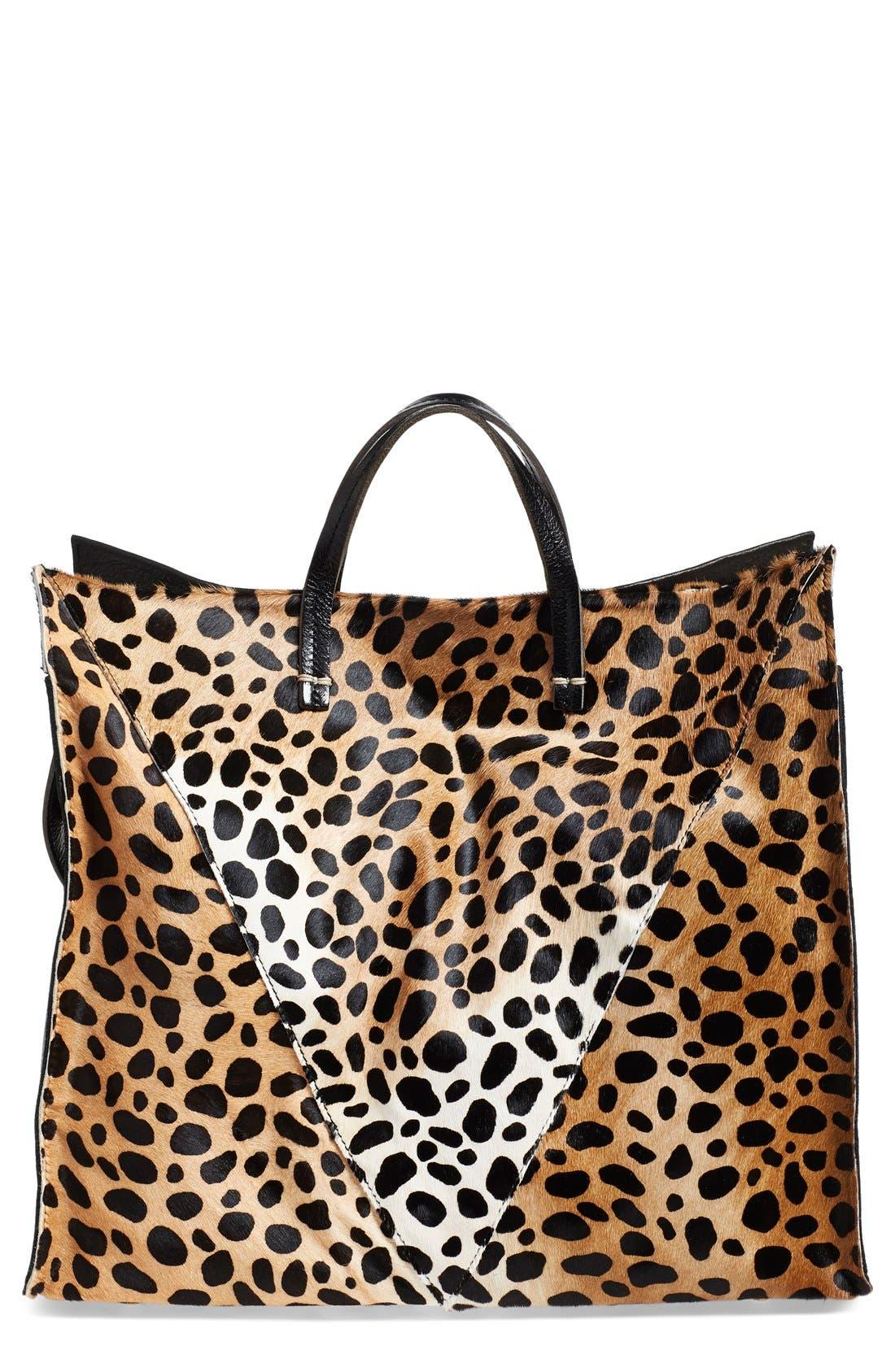 Clare V. Genuine Calf Hair Cheetah Print Tote