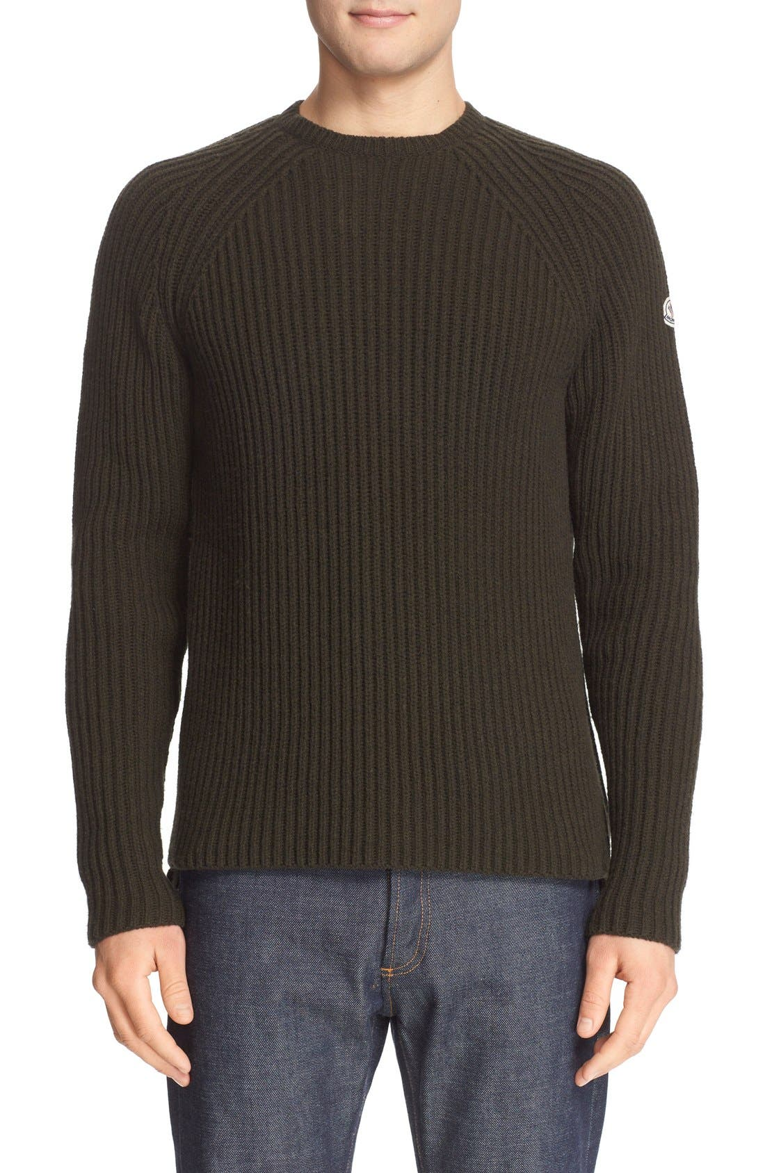 MONCLER Ribbed Wool & Cashmere Sweater