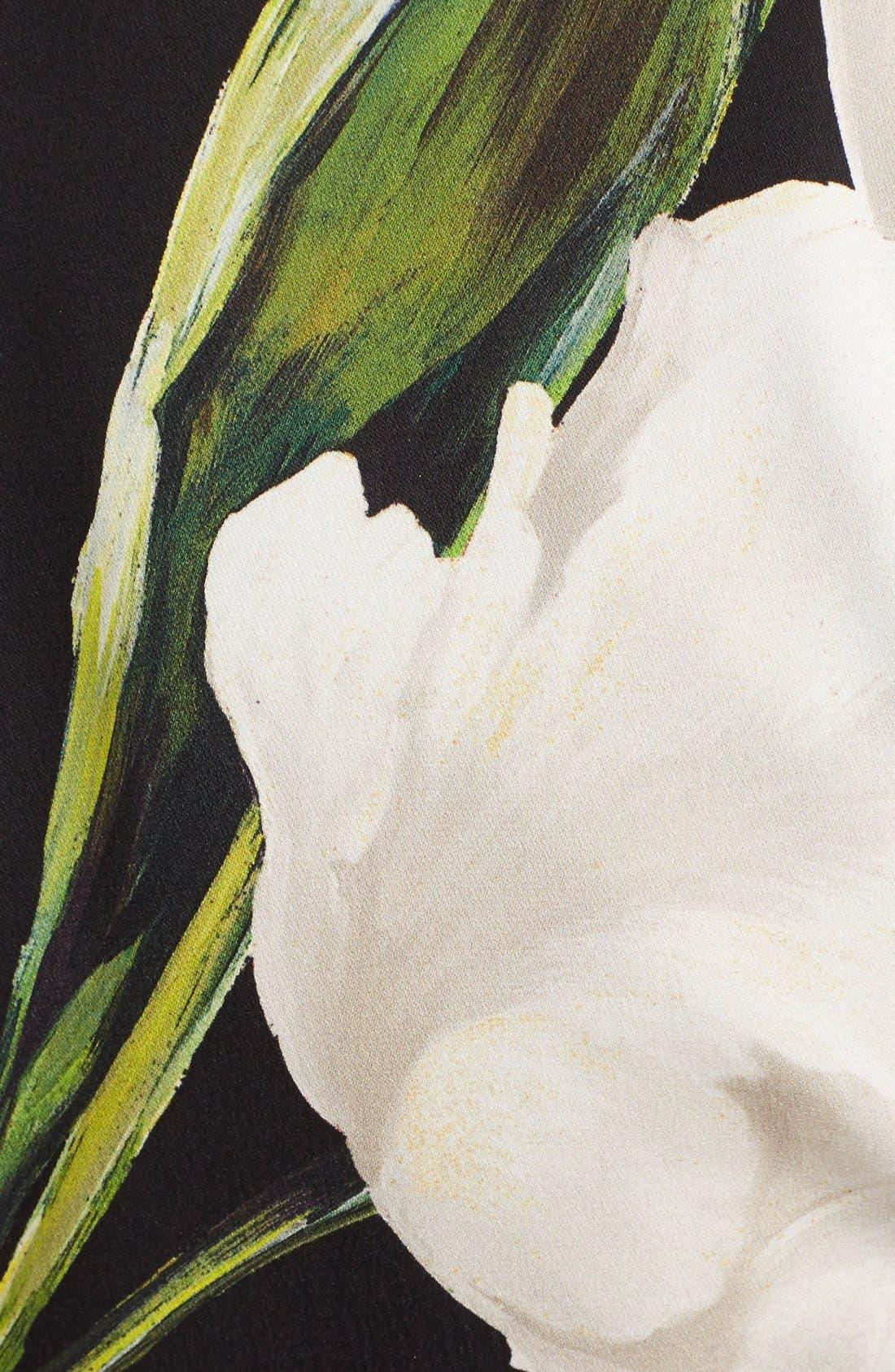 Alternate Image 3  - Dolce&Gabbana Ruched Tulip Print Stretch Silk Charmeuse Dress
