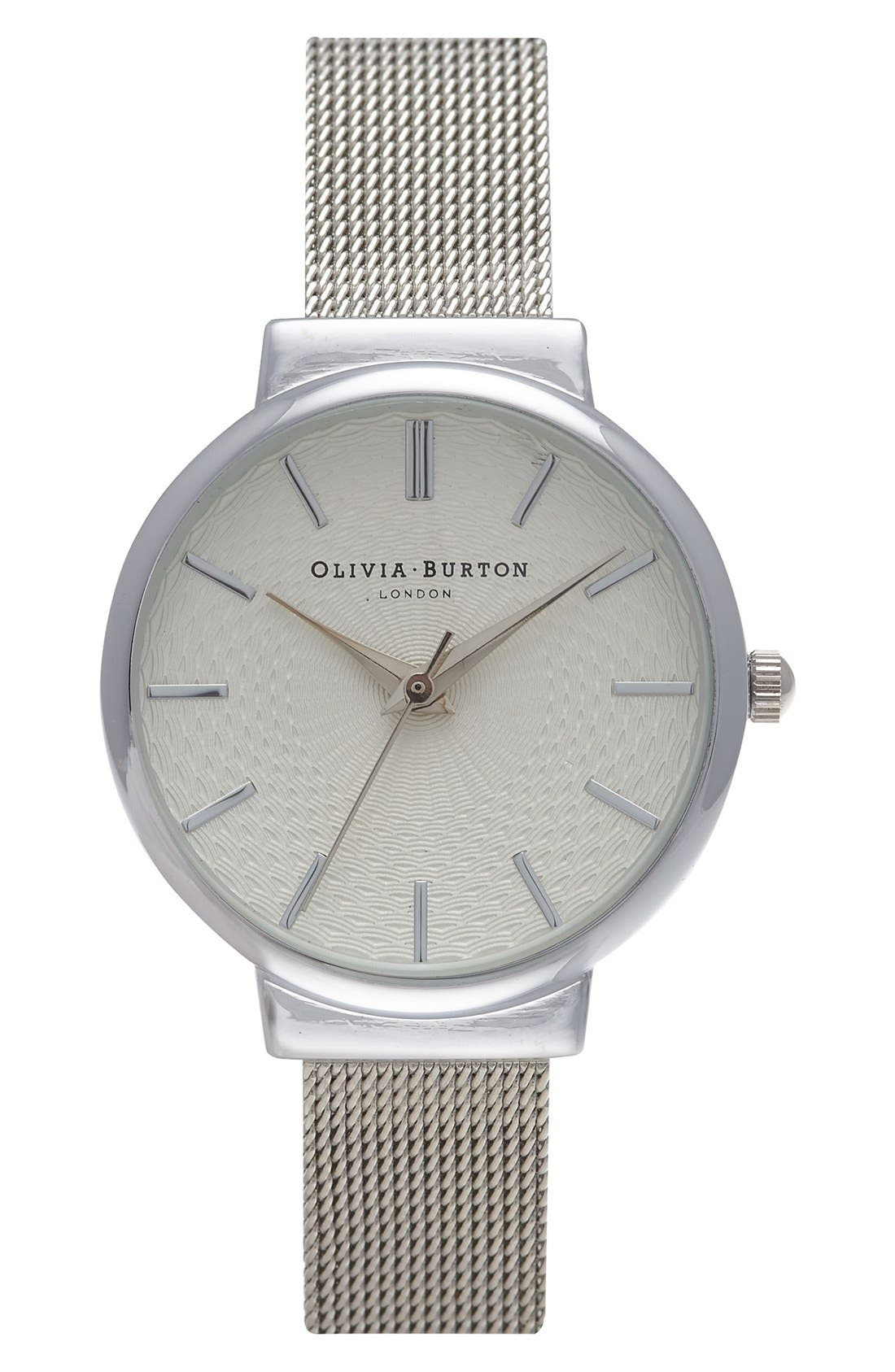 Alternate Image 1 Selected - Olivia Burton 'The Hackney' Mesh Strap Watch, 29mm