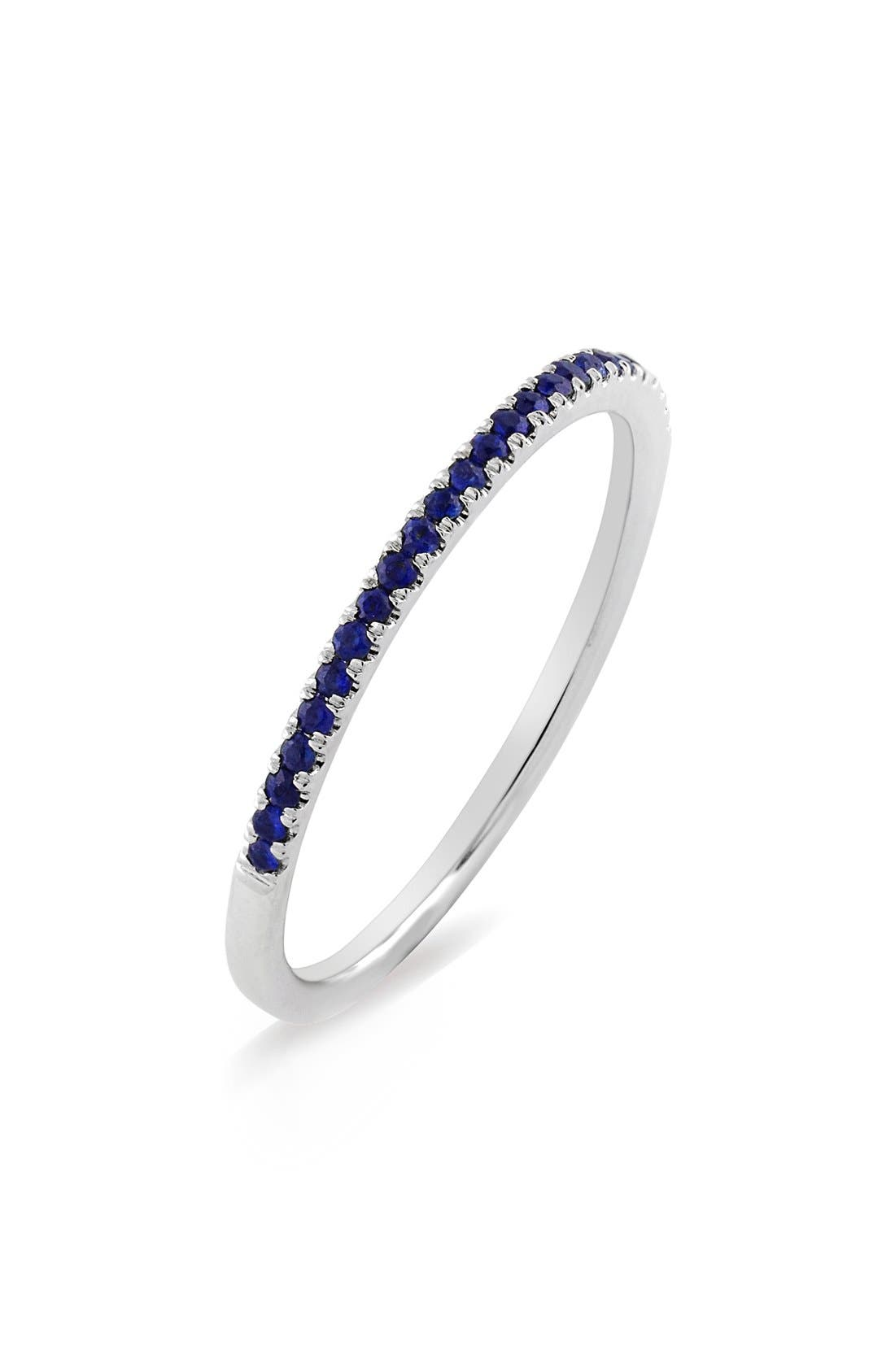 BONY LEVY Stackable Gem Straight Band Ring
