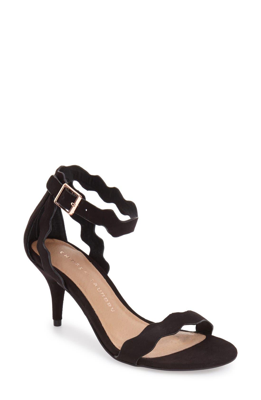 Main Image - Chinese Laundry 'Rubie' Scalloped Ankle Strap Sandal (Women)