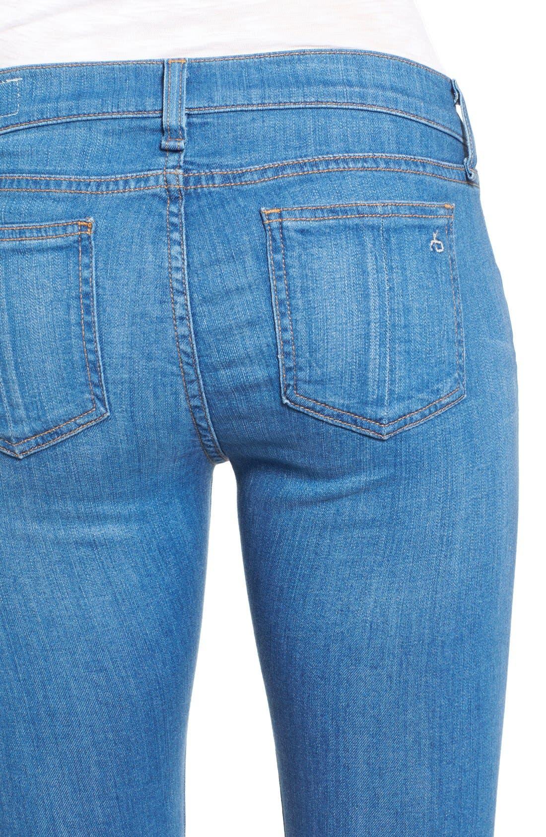 Alternate Image 4  - rag & bone/JEAN Destroyed Crop Skinny Jeans