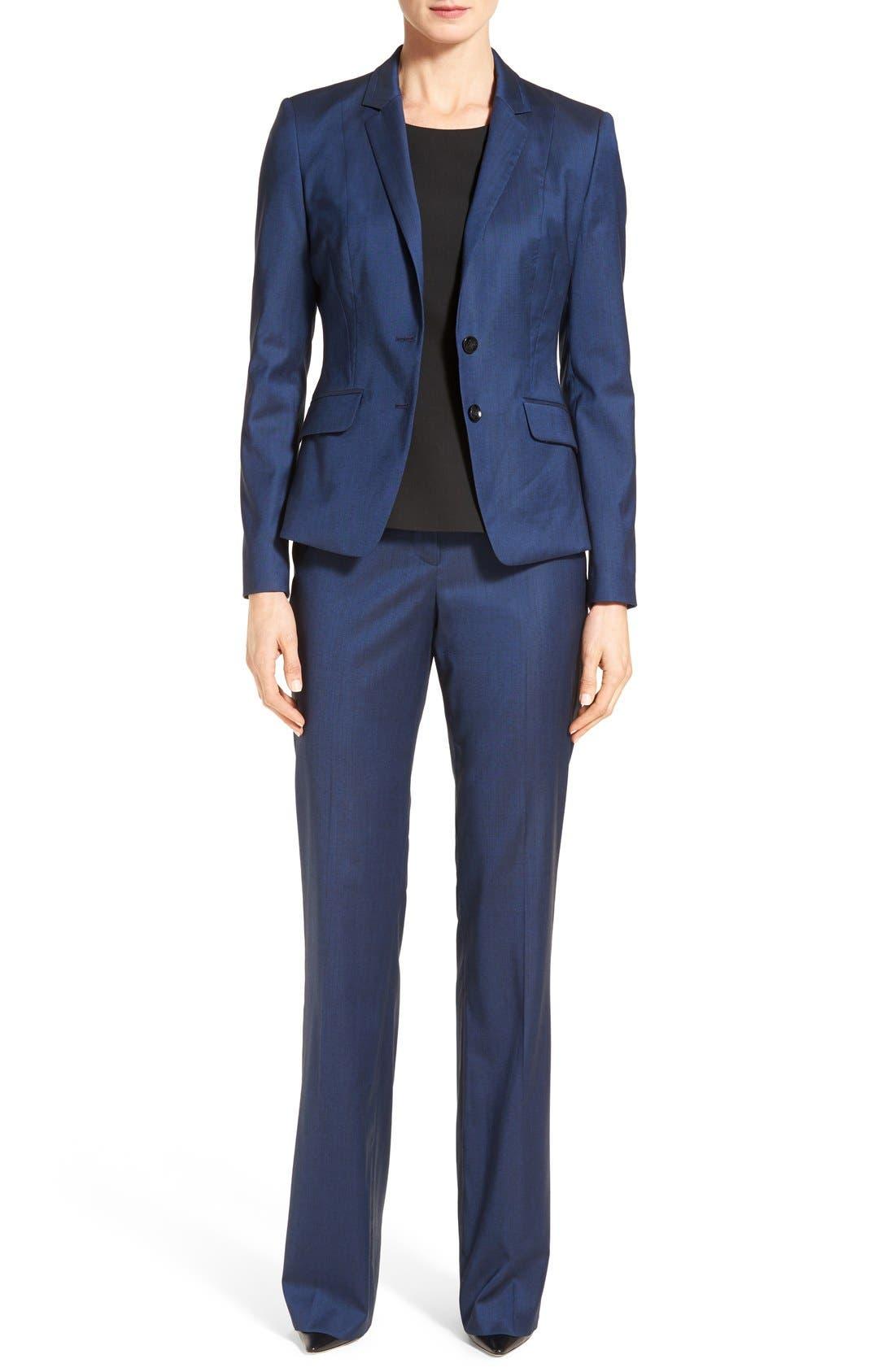 Alternate Image 2  - BOSS 'Tulea' Stretch Wool Blend Suit Trousers