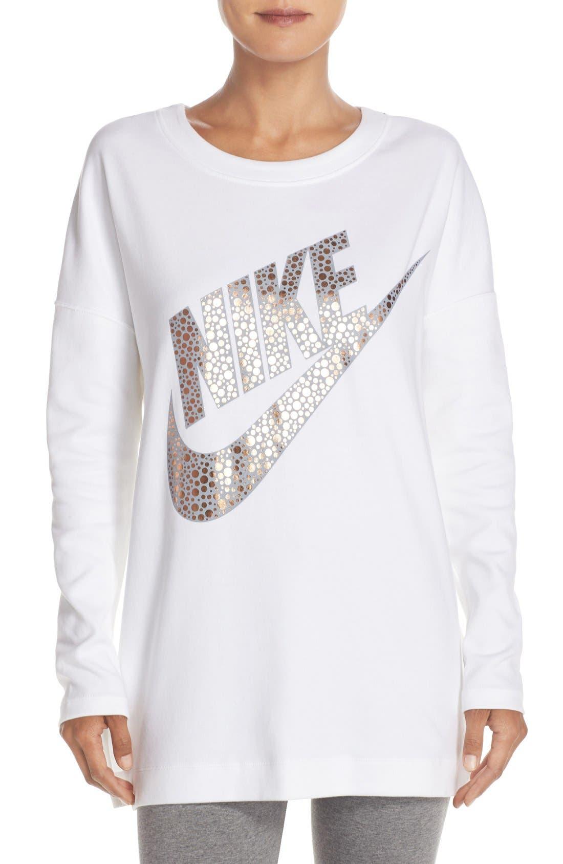 Alternate Image 1 Selected - Nike Logo Graphic Sweatshirt