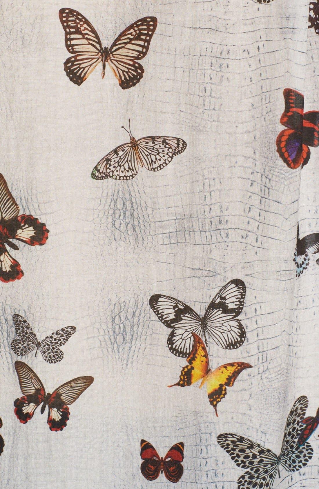 Alternate Image 5  - The Kooples Butterfly Print Cotton & Silk Shirt