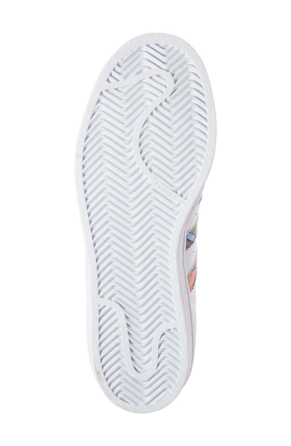 Alternate Image 4  - adidas 'Superstar' Print Sneaker (Women)