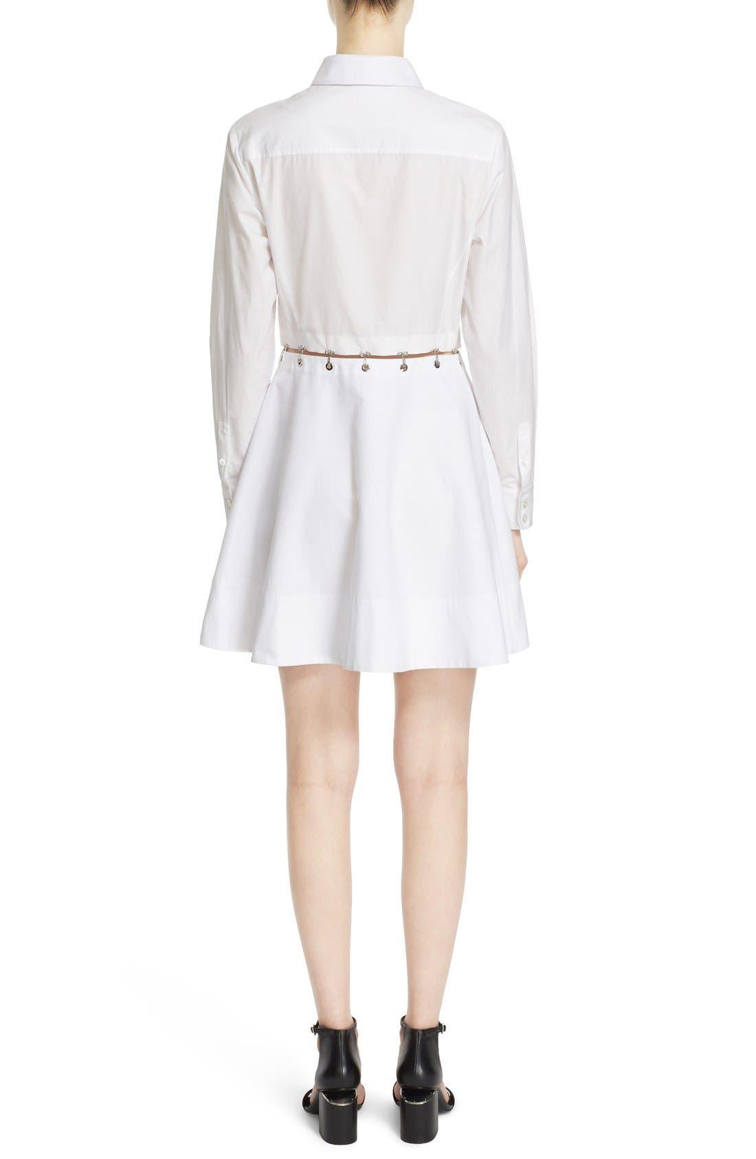 Alternate Image 2  - Alexander Wang Hook & Grommet Detail Cotton Poplin Shirtdress
