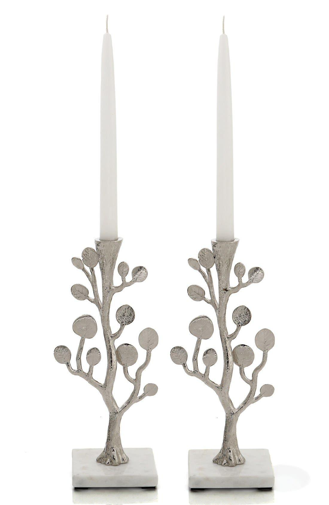 Michael Aram 'Botanical Leaf' Candle Holders (Set of 2)