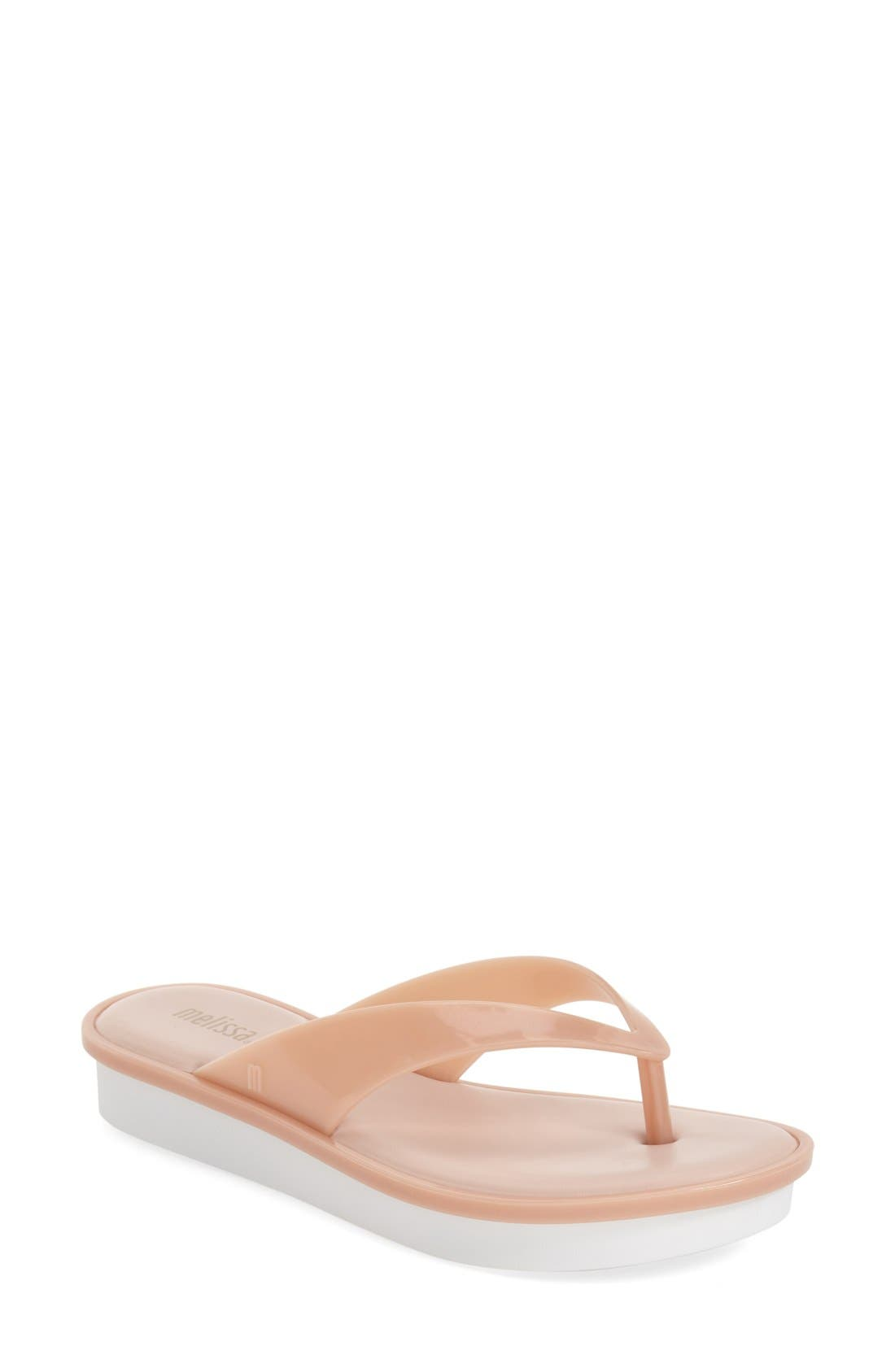 Melissa 'New High' Jelly Platform Flip Flop (Women)