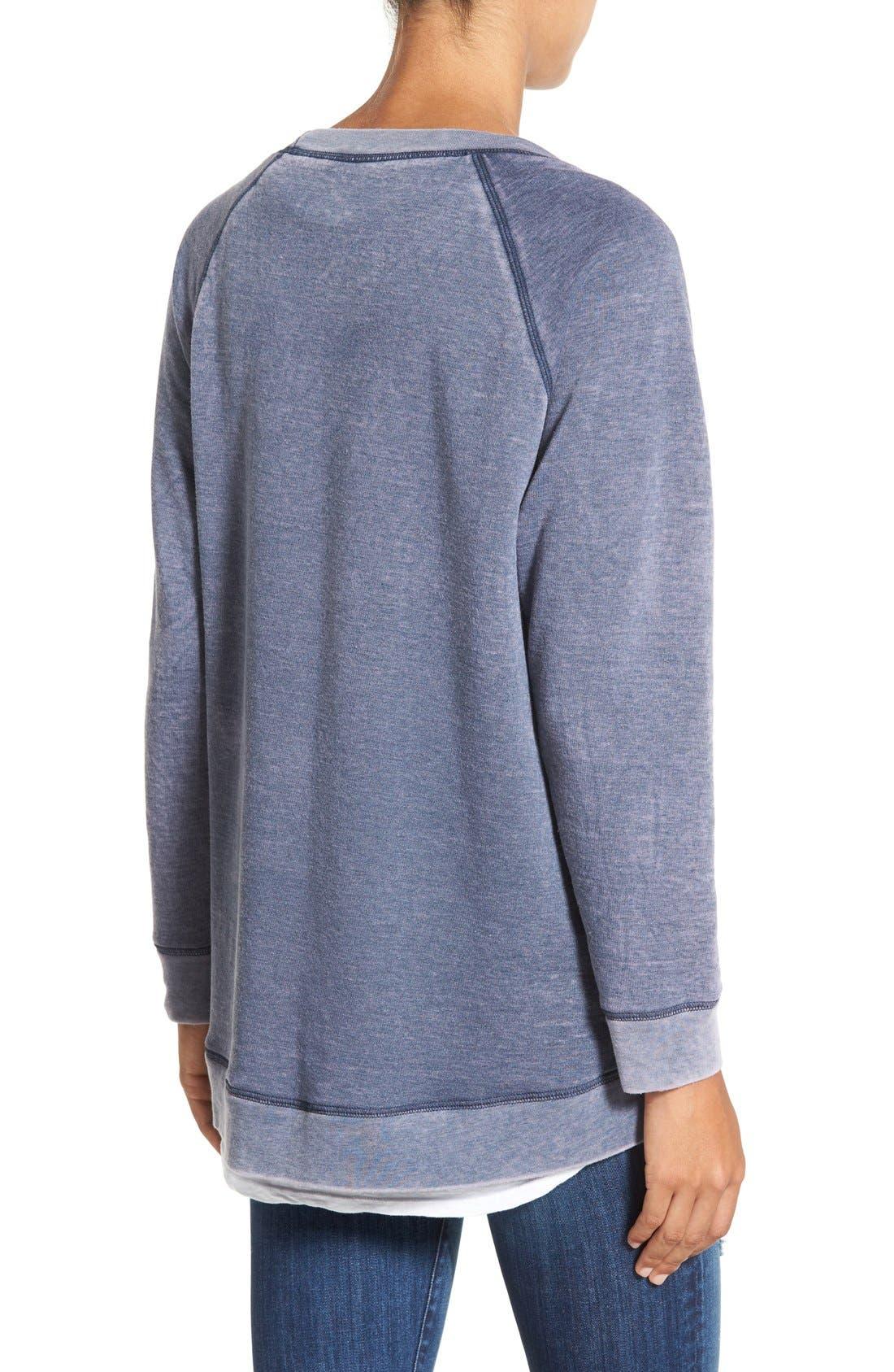 Alternate Image 2  - Caslon® Burnout Sweatshirt