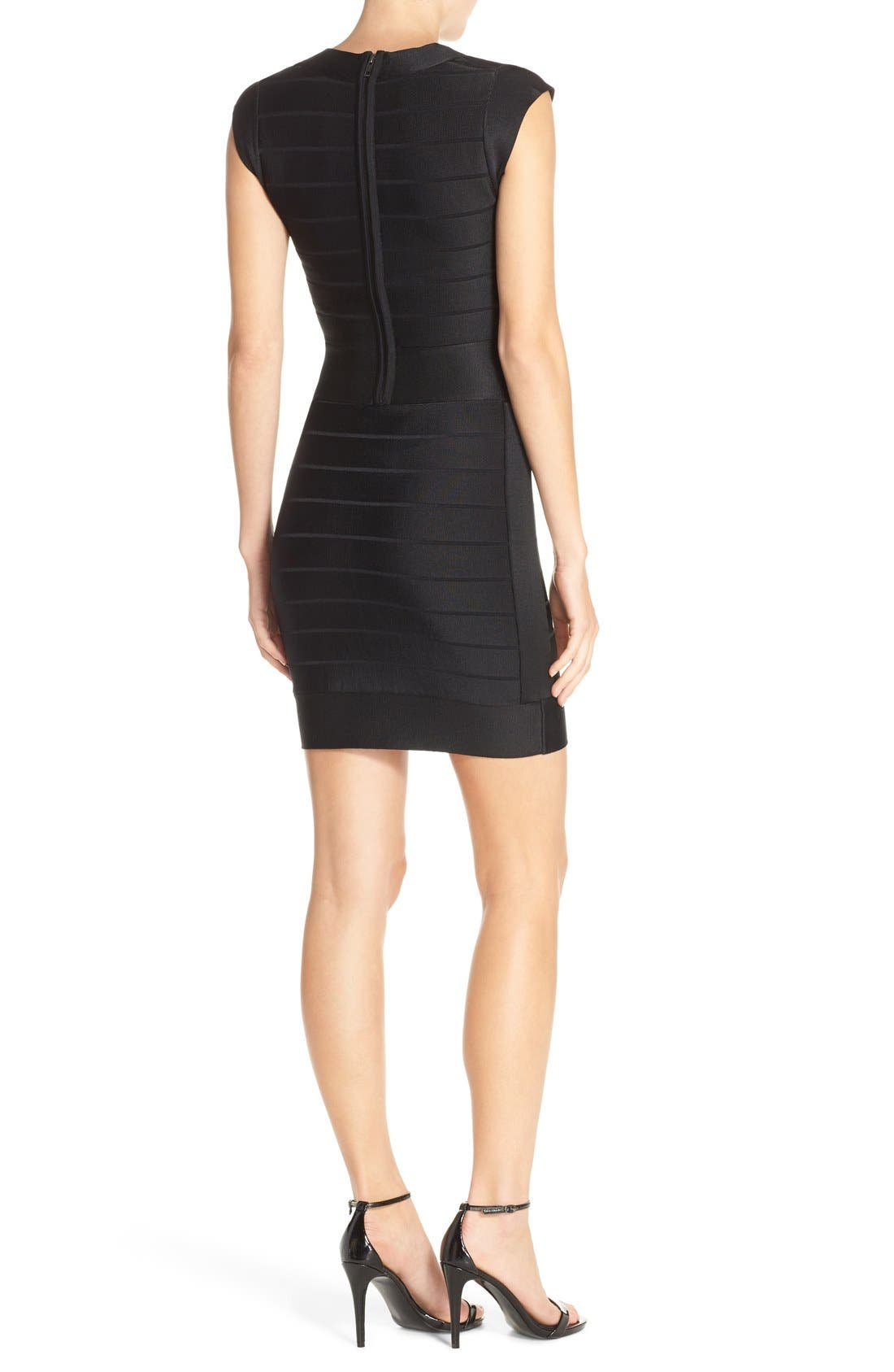 Alternate Image 2  - French Connection 'Miami Spotlight' Cap Sleeve Bandage Dress