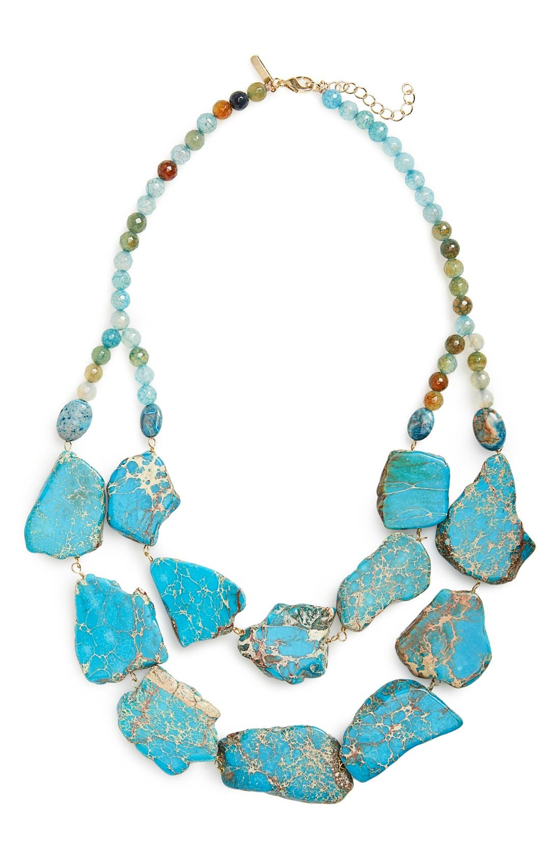 Alternate Image 1 Selected - Panacea Double Row Agate Statement Necklace