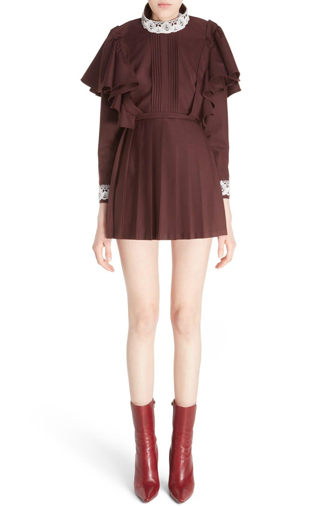 Main Image - Vetements 'Schoolgirl' Lace Trim Minidress