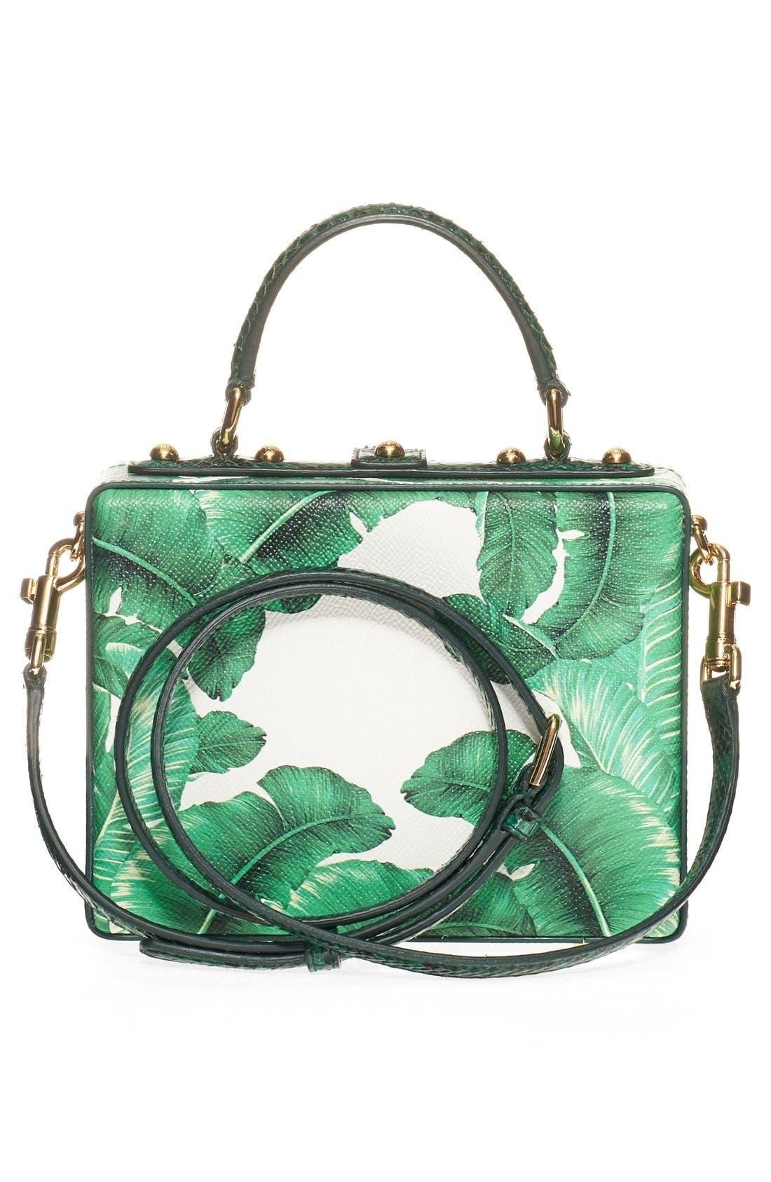 Alternate Image 3  - Dolce&Gabbana 'Banana Leaf' Embellished Leather & Snakeskin Box Bag