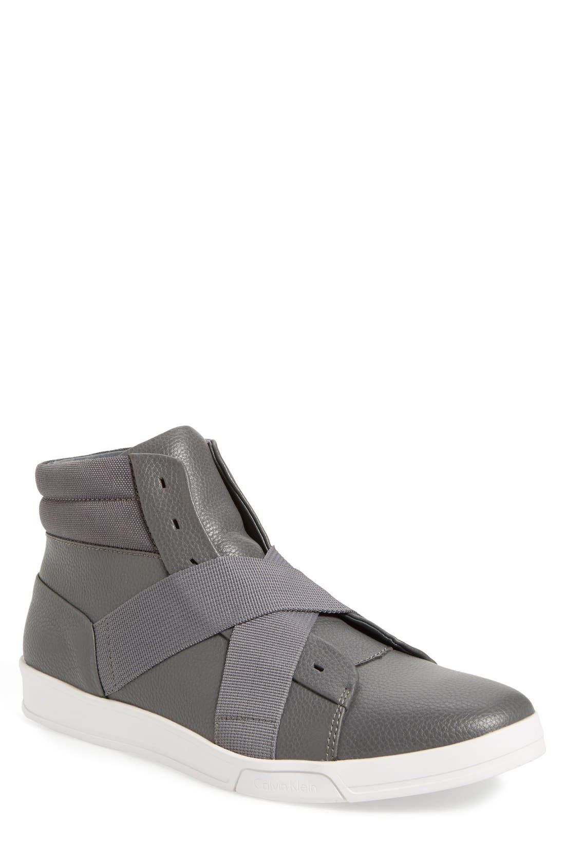 Alternate Image 1 Selected - Calvin Klein 'Banjo' High Top Sneaker (Men)