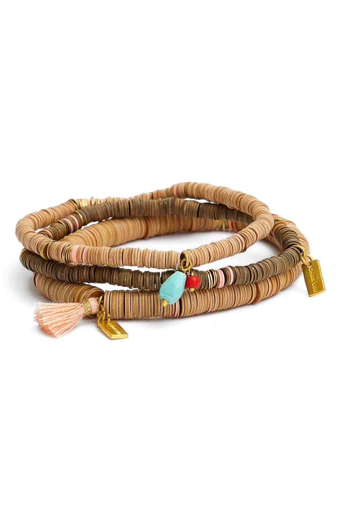 Alternate Image 1 Selected - Chan Luu Bead Stretch Bracelets (Set of 3)