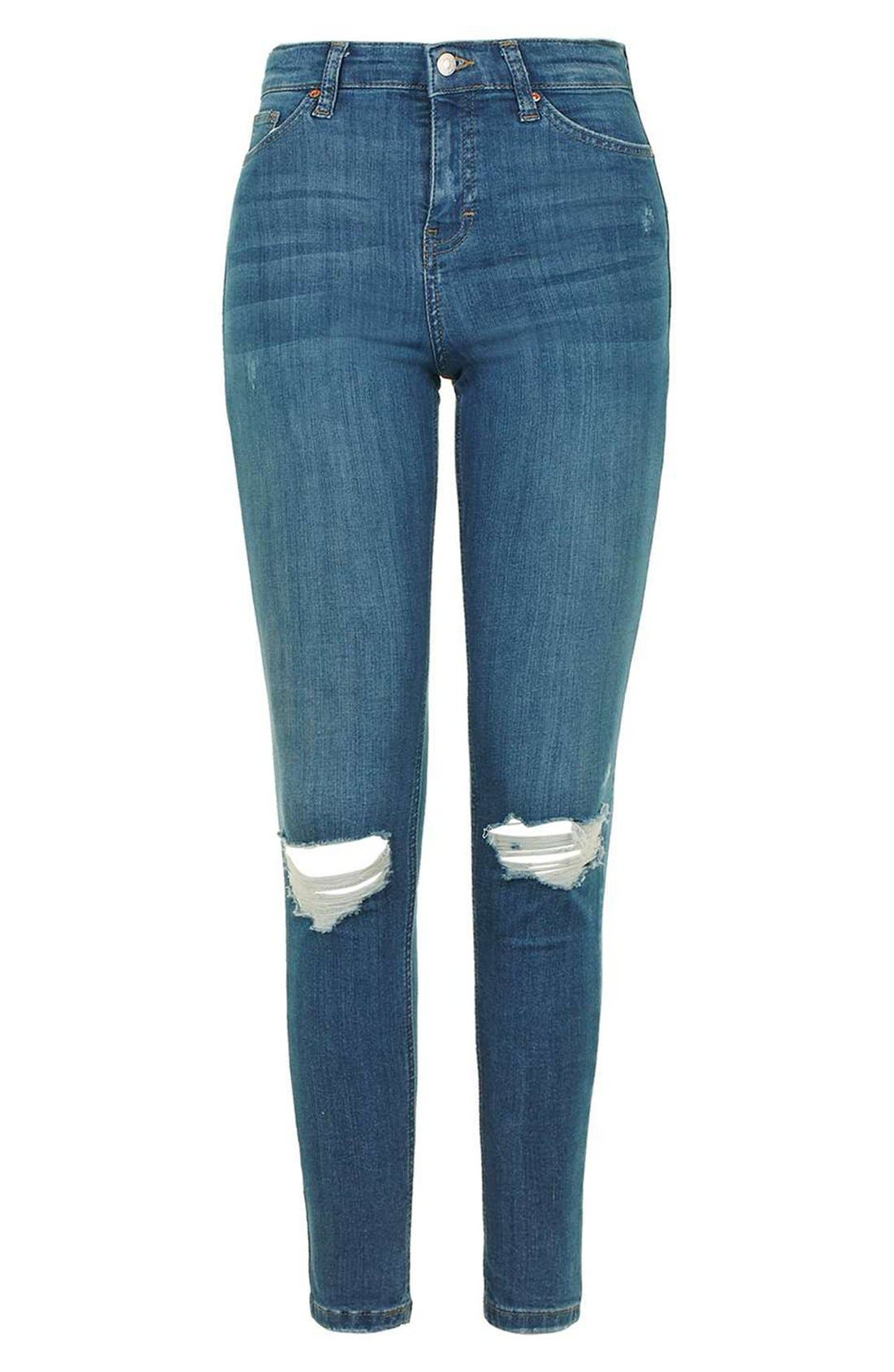 Alternate Image 4  - Topshop 'Jamie' Ripped Ankle Skinny Jeans