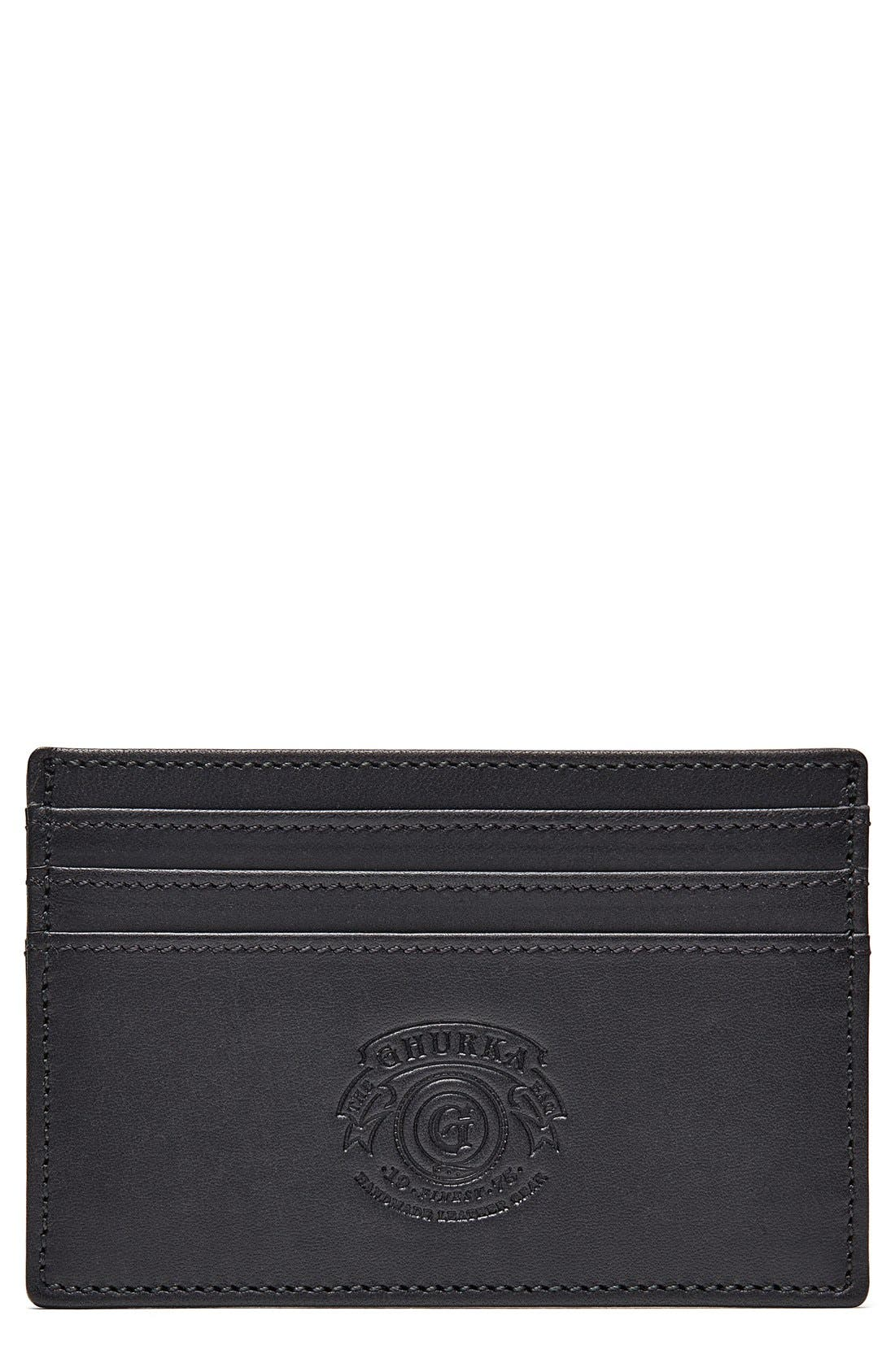 Alternate Image 1 Selected - Ghurka Leather Card Case