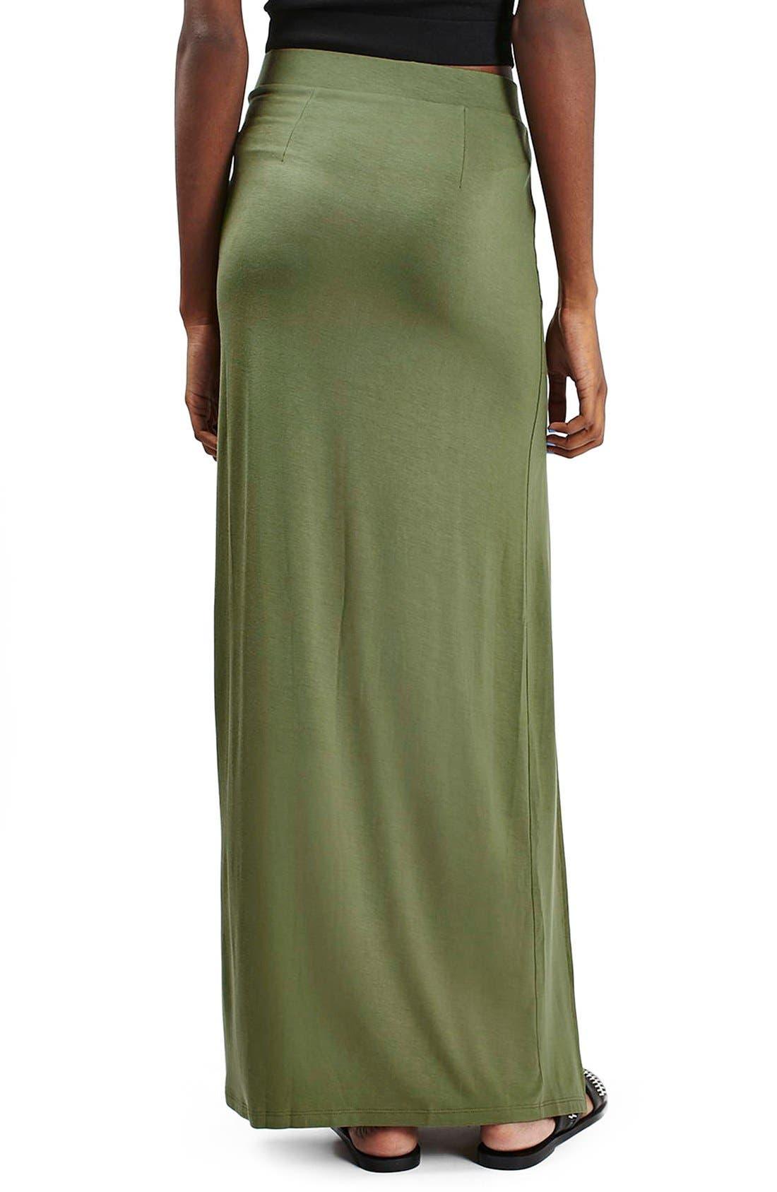 Alternate Image 3  - Topshop Double Slit Maxi Skirt