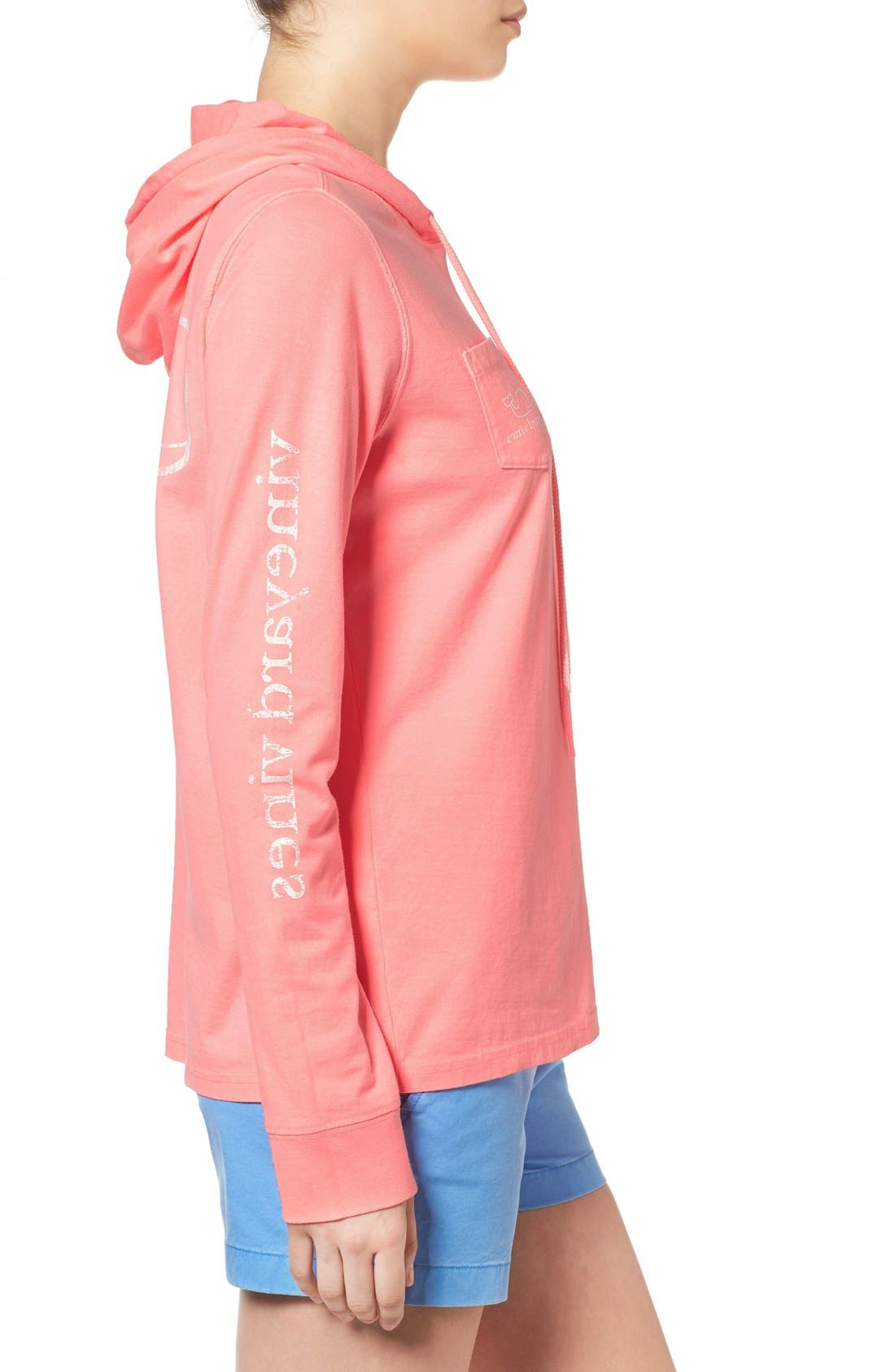 Alternate Image 3  - Vineyard Vines Whale Graphic Long Sleeve Hooded Tee