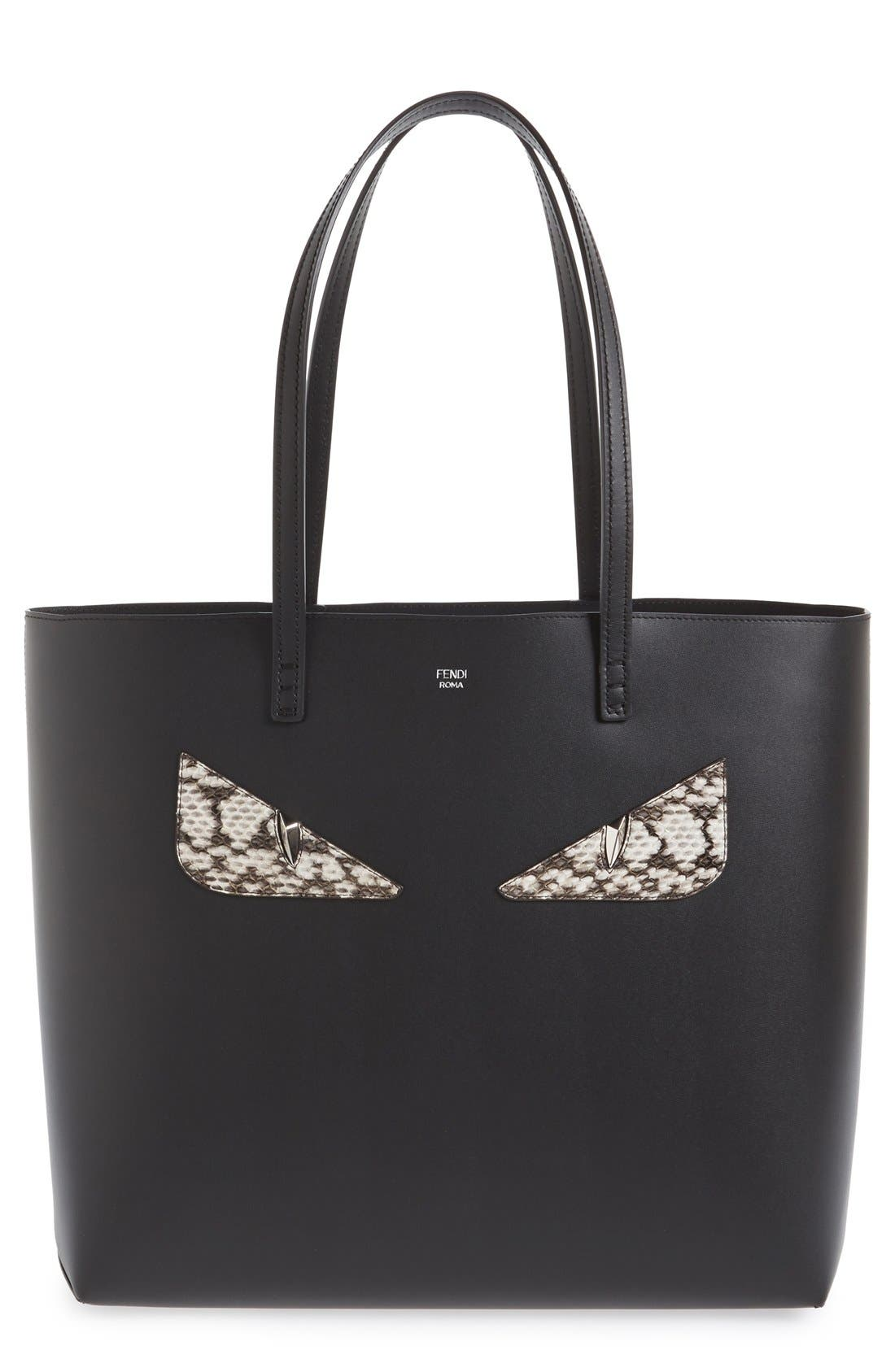 FENDI 'Roll - Monster' Genuine Snakeskin Trim Leather