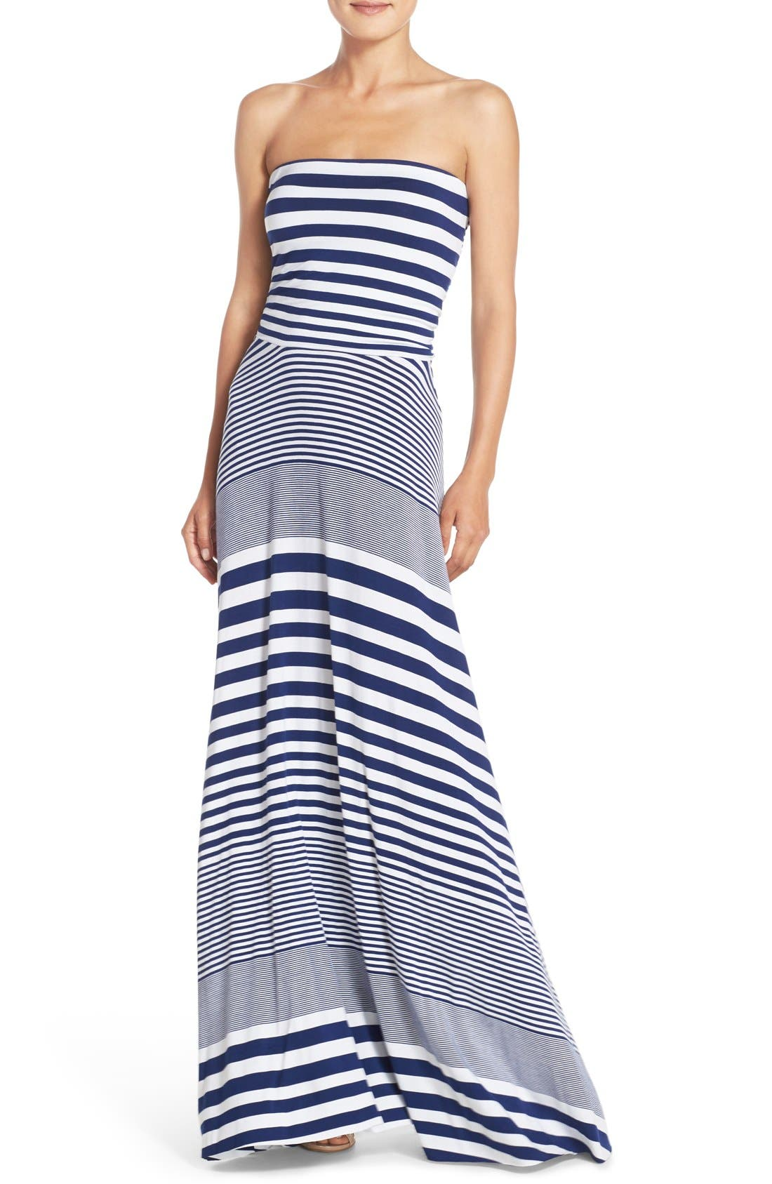 Felicity & Coco Stripe Strapless Maxi Dress (Nordstrom Exclusive)