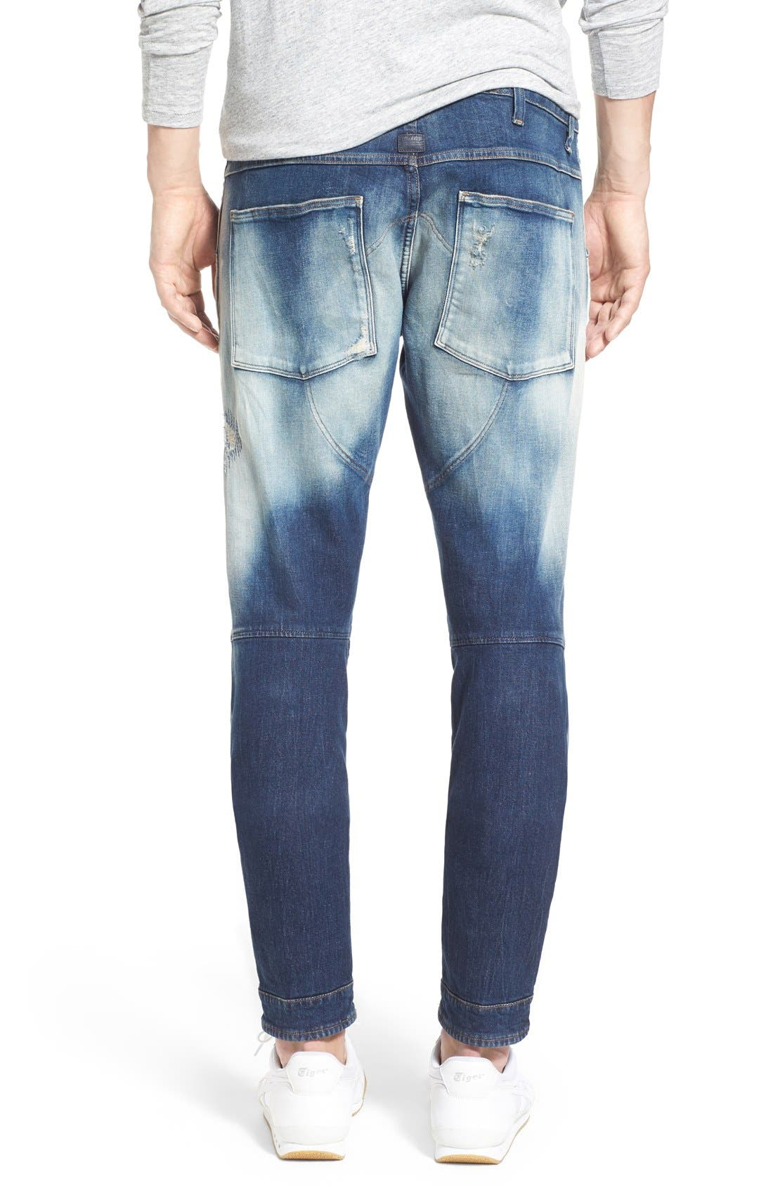 Alternate Image 2  - G-Star Raw '5620 Type C' Skinny Fit Moto Jeans (Moon Wash Restored)