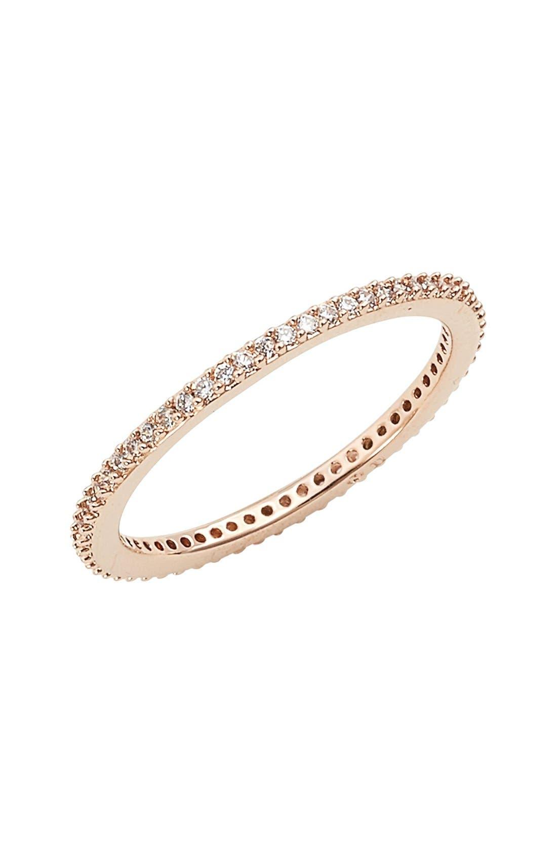 Nadri Skinny Cubic Zirconia Pavé Band Ring